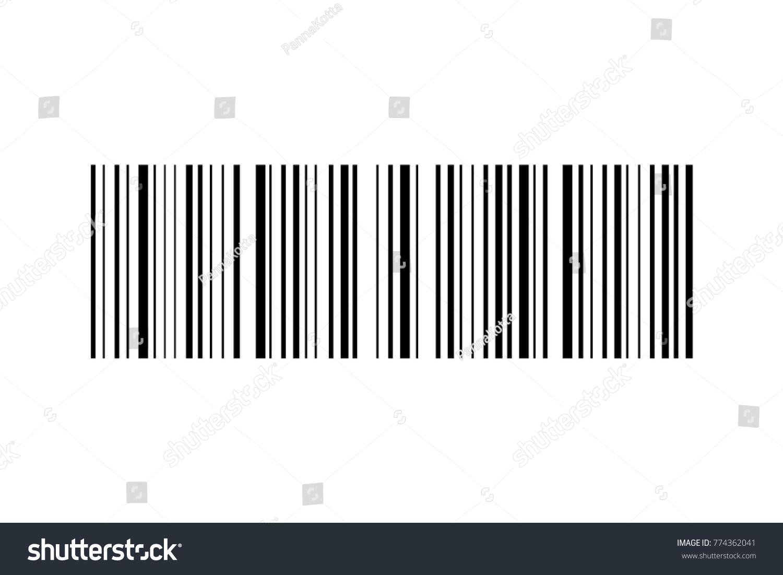 Barcode Vector Icon Bar Code Web Stock Vector (Royalty Free