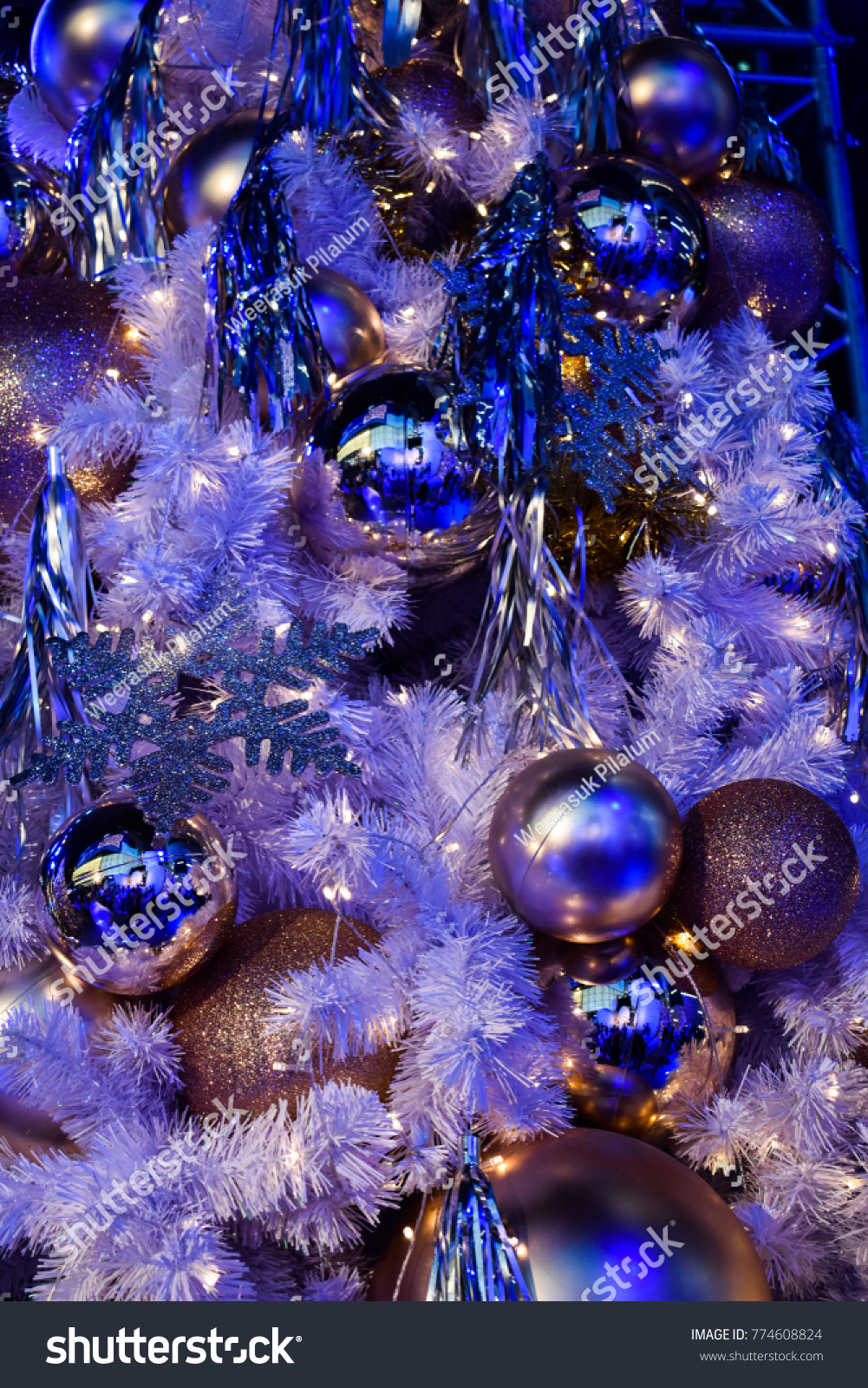 Christmas Background Blue Christmas Tree Stock Photo Edit Now 774608824