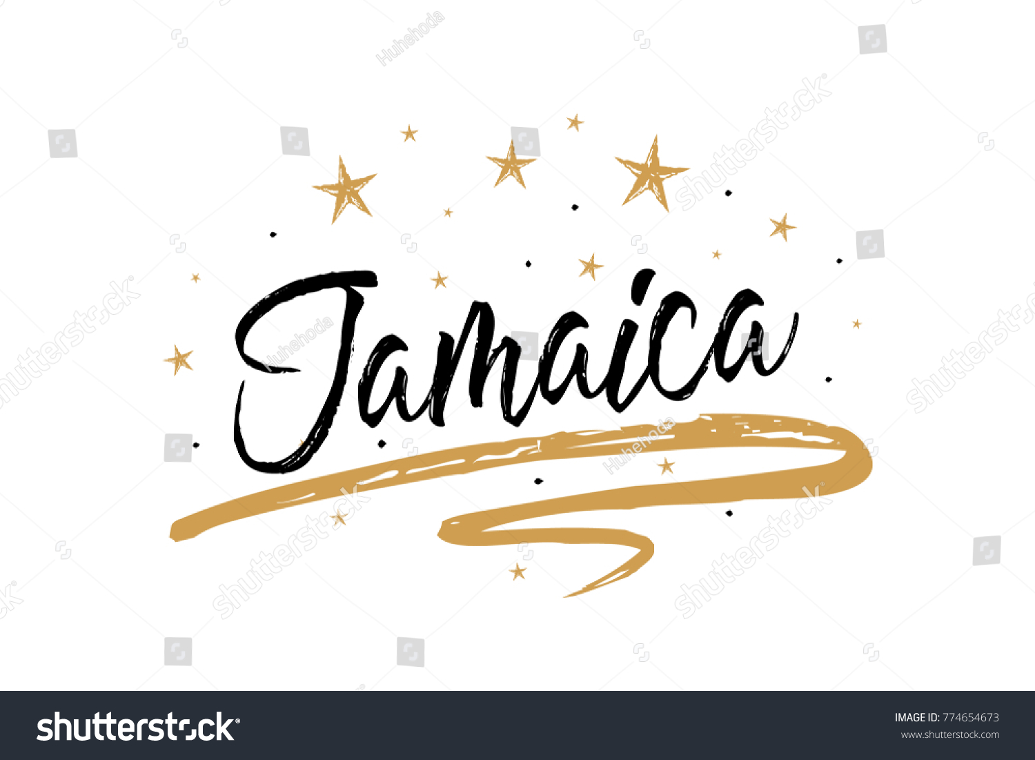 Jamaica Name Country Word Text Card Stock Vector Royalty Free