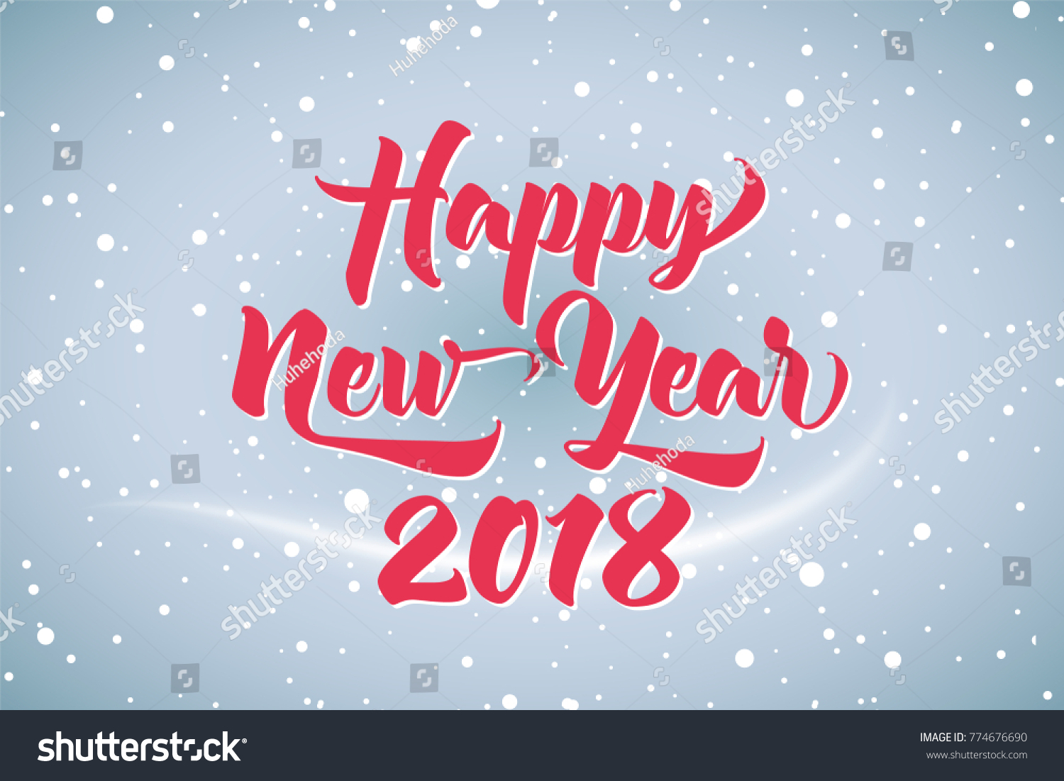 Happy New Year 2018 Beautiful Greeting Stock Vector (Royalty Free ...