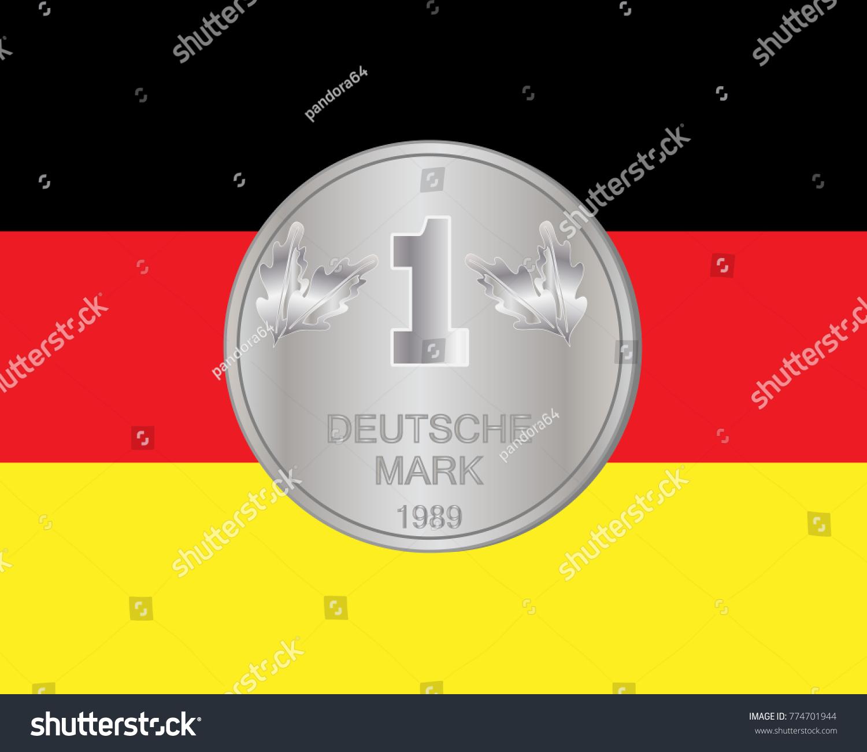 Illustration deutsche mark coin on german stock illustration an illustration of a deutsche mark coin on a german flag background buycottarizona