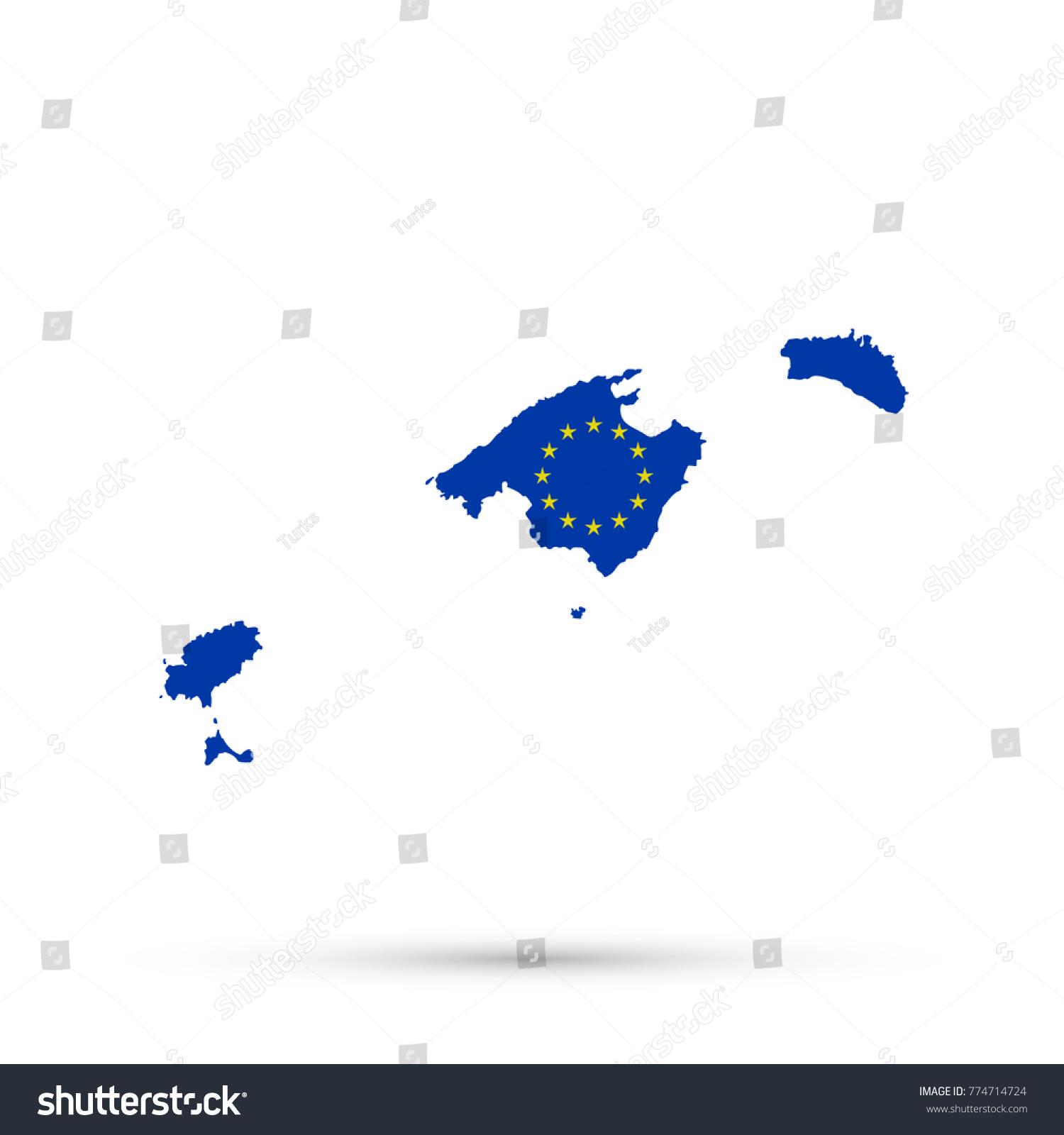 Picture of: Vector De Stock Libre De Regalias Sobre Balearic Islands Map European Union Eu774714724