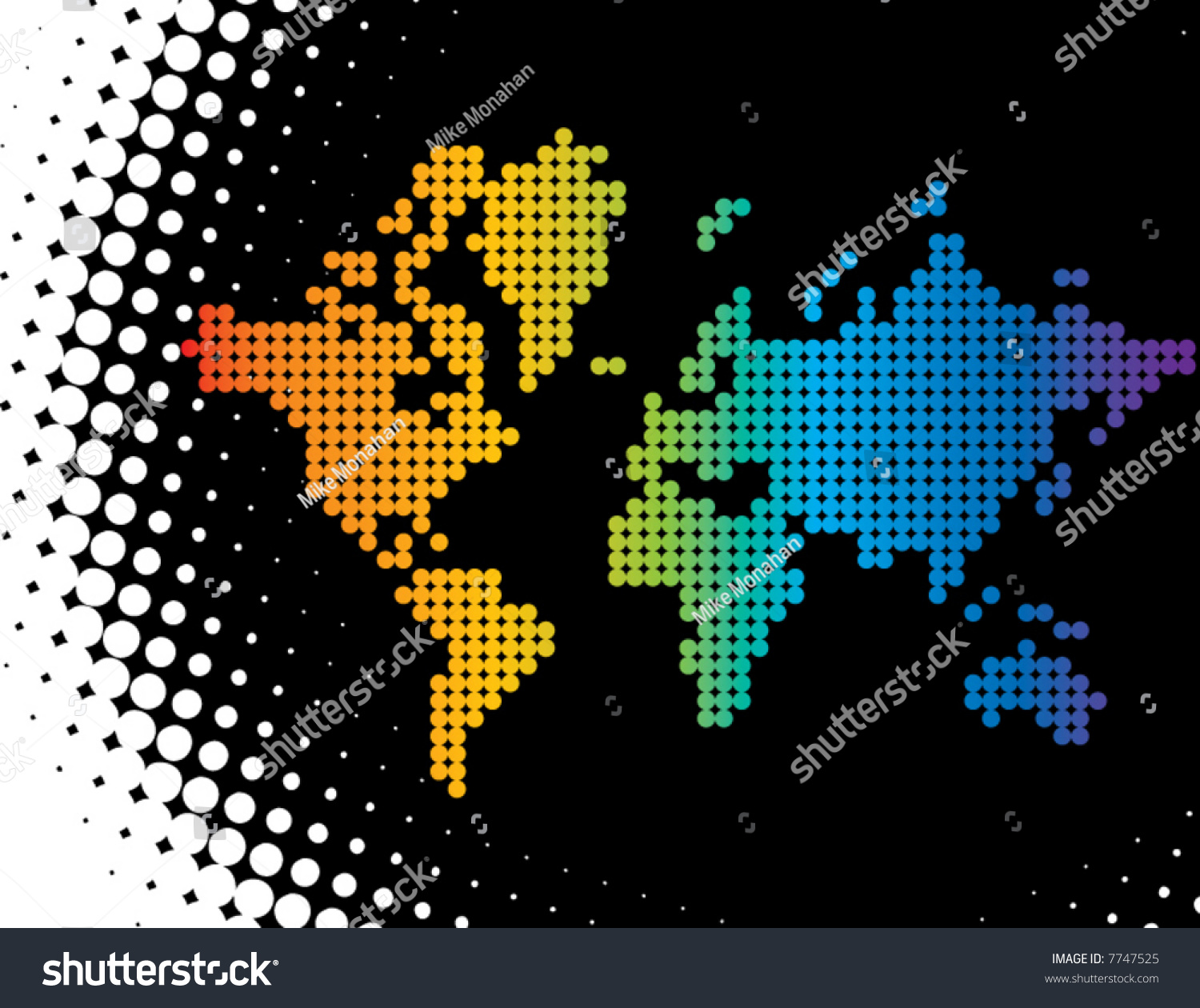 A vector map of the world made of color dots forming a editable a vector map of the world made of color dots forming a gumiabroncs Choice Image