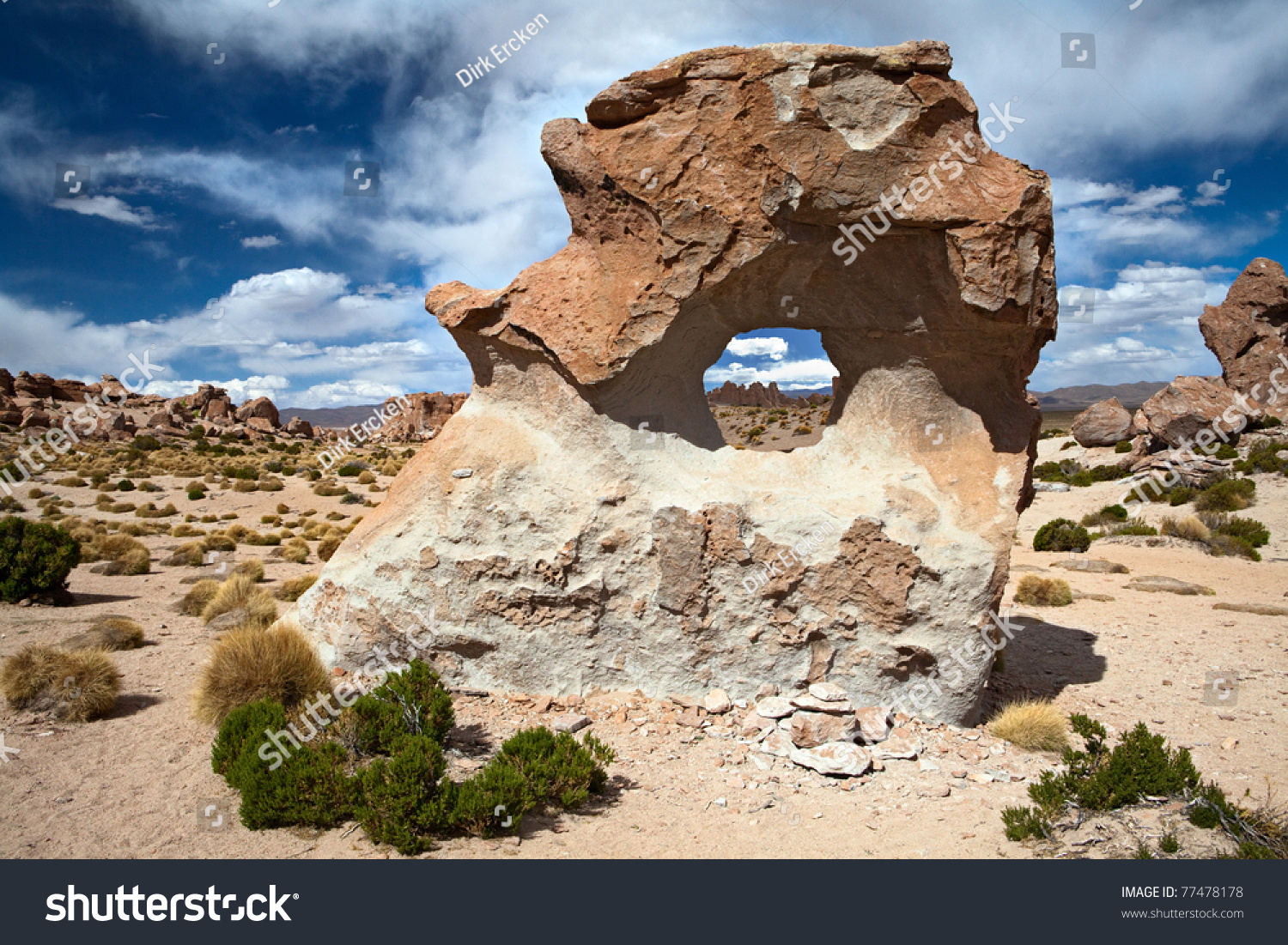 Rock Formation Wind Erosion Sculptures Sand Stock Photo ...