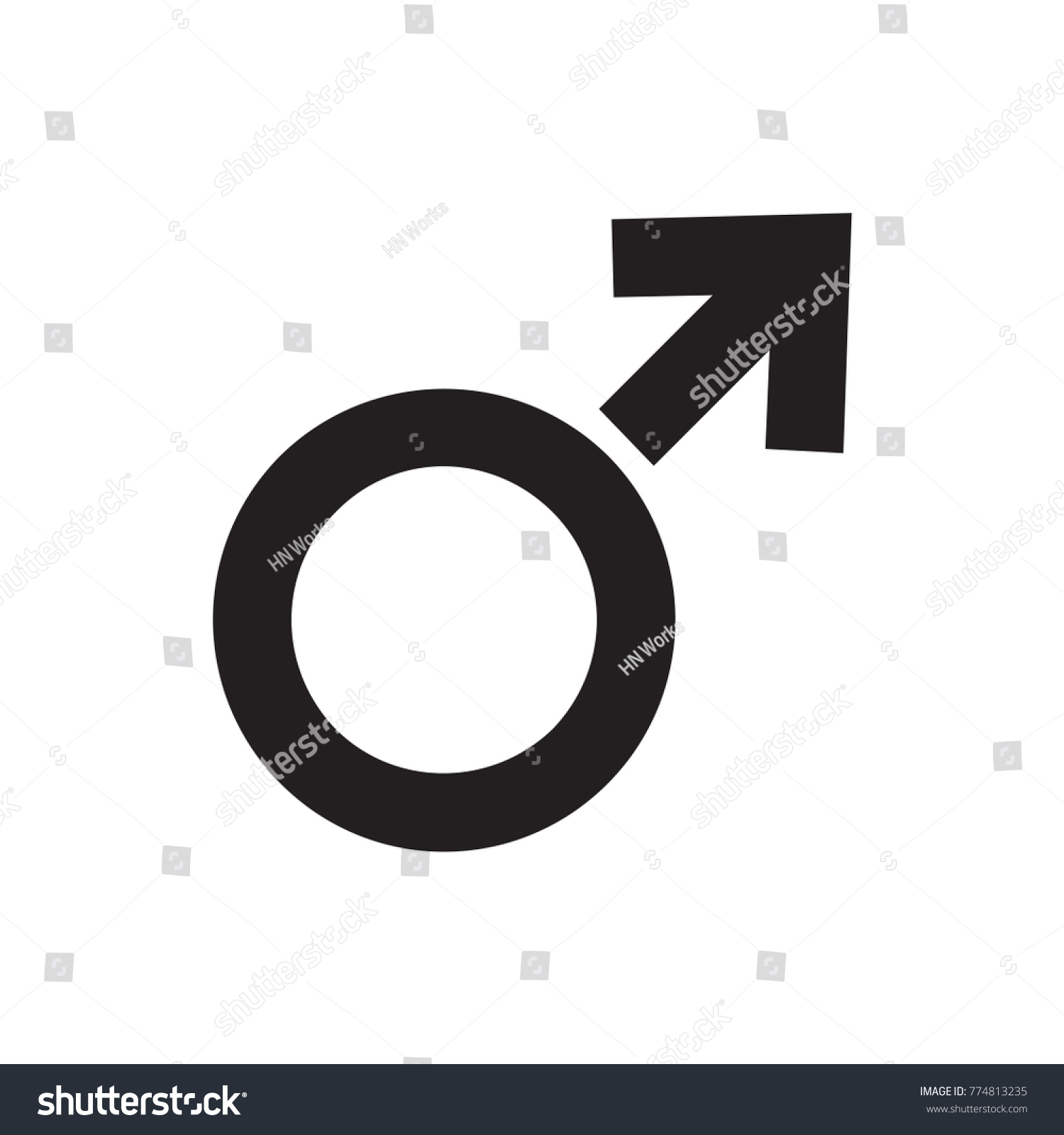 man symbol icon illustration isolated vector sign symbol #774813235