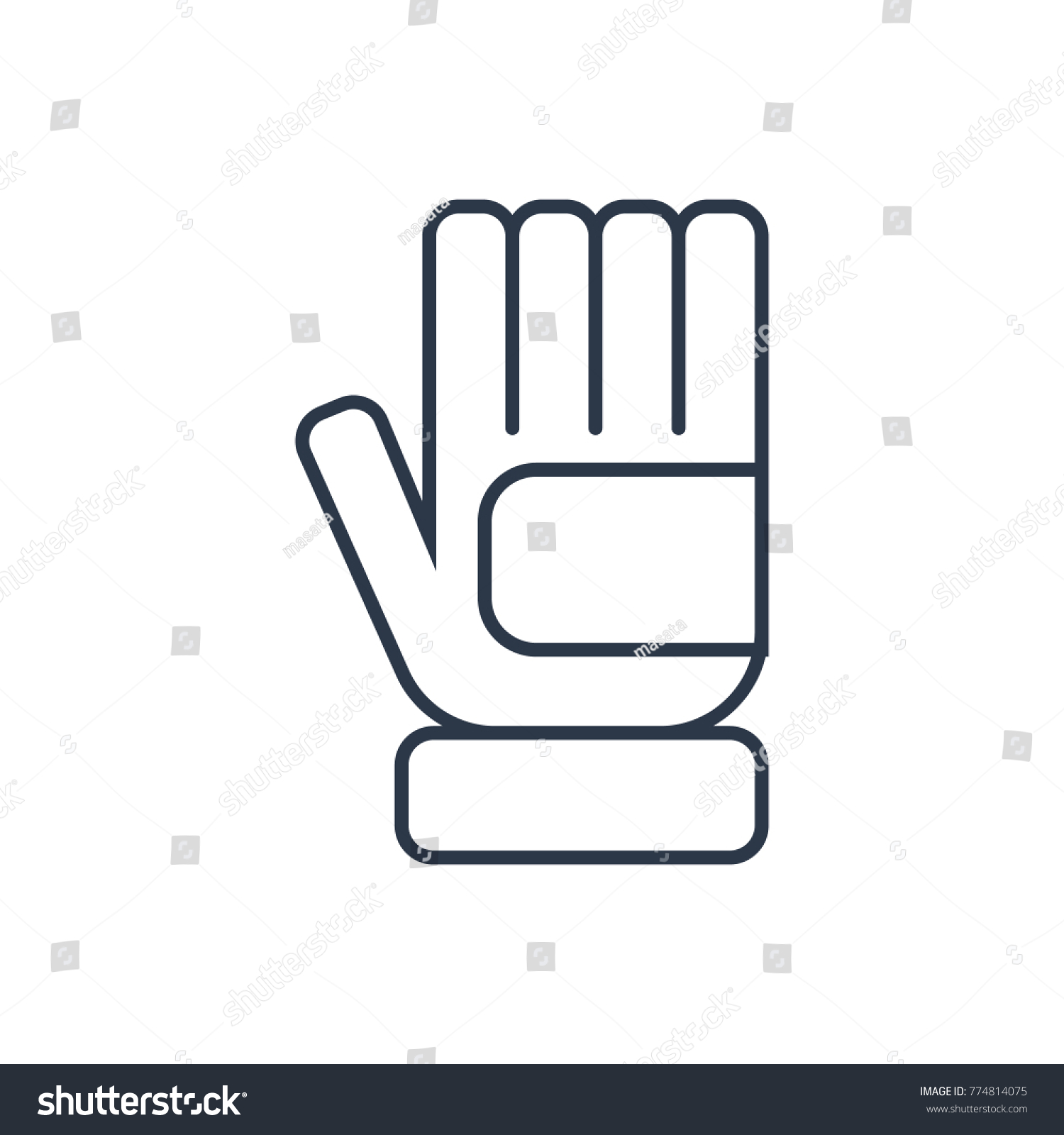 Glove Icon Isolated Latex Glove Icon Stock Vector Royalty Free