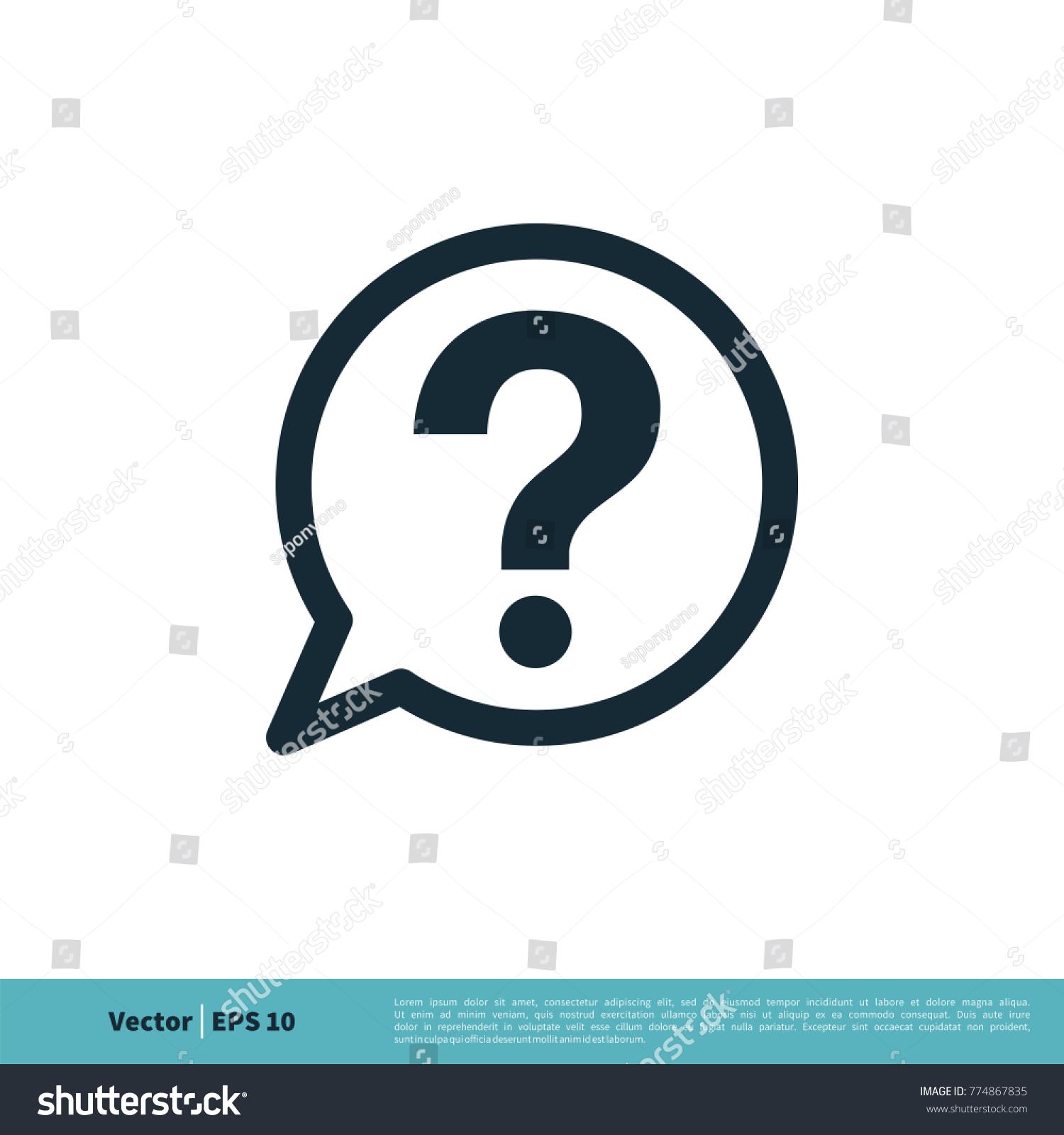 help sign icon vector logo template のベクター画像素材