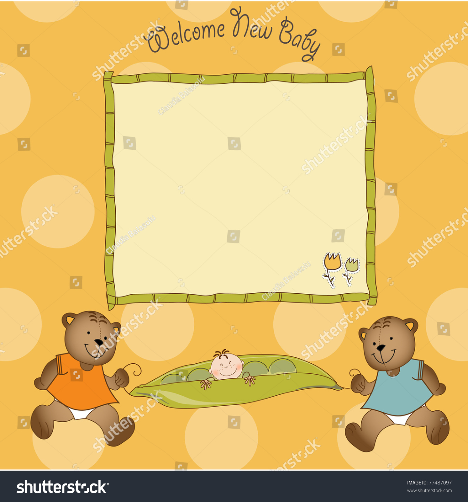 Baby Shower Greeting Card Stock Vector Royalty Free 77487097