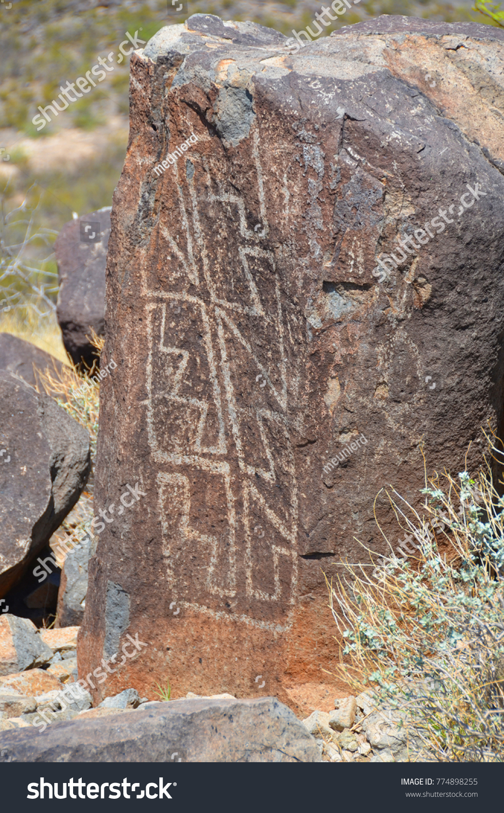 Petroglyph National Monument Protects 1 Largest Stock Photo Edit