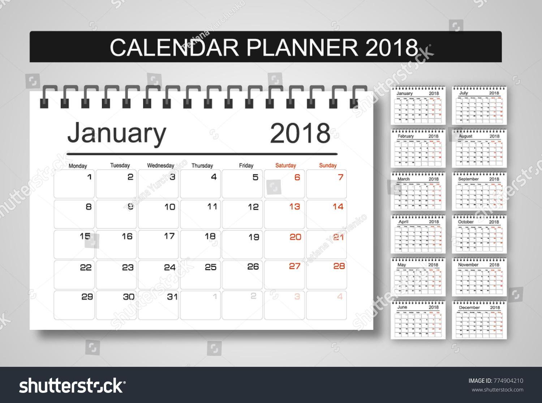 planning calendars 2018