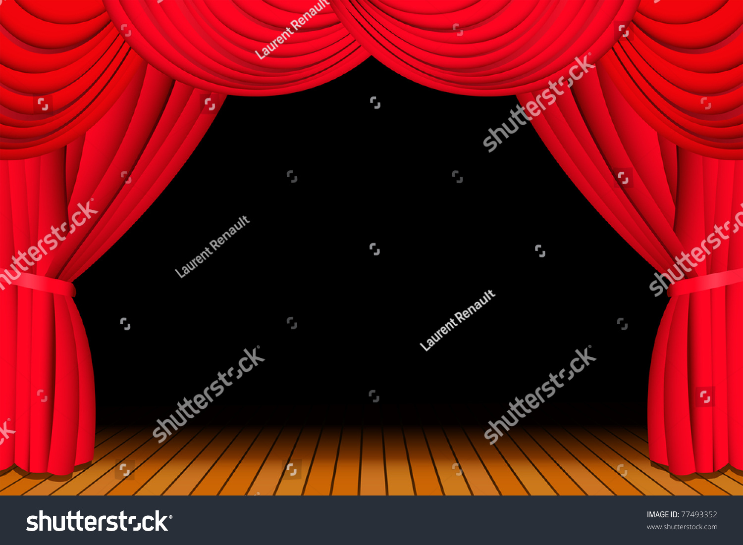 Red curtains with spotlight - Red Curtains Show Red Stage Curtains Open Red Stage Curtains