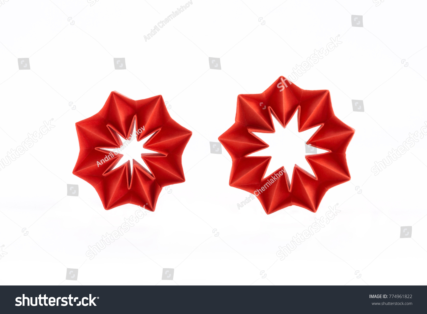 Origami Corrugated Star Christmas Tree Toys Stock Photo Edit Now