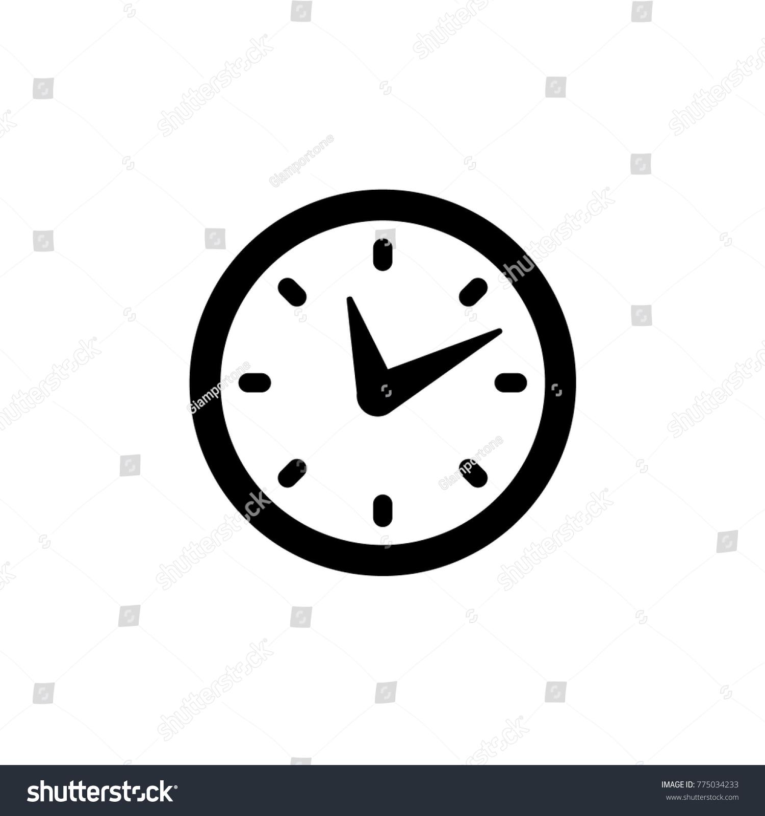 Clock Icon Time Symbol Stock-vektorgrafik 775034233 - Shutterstock