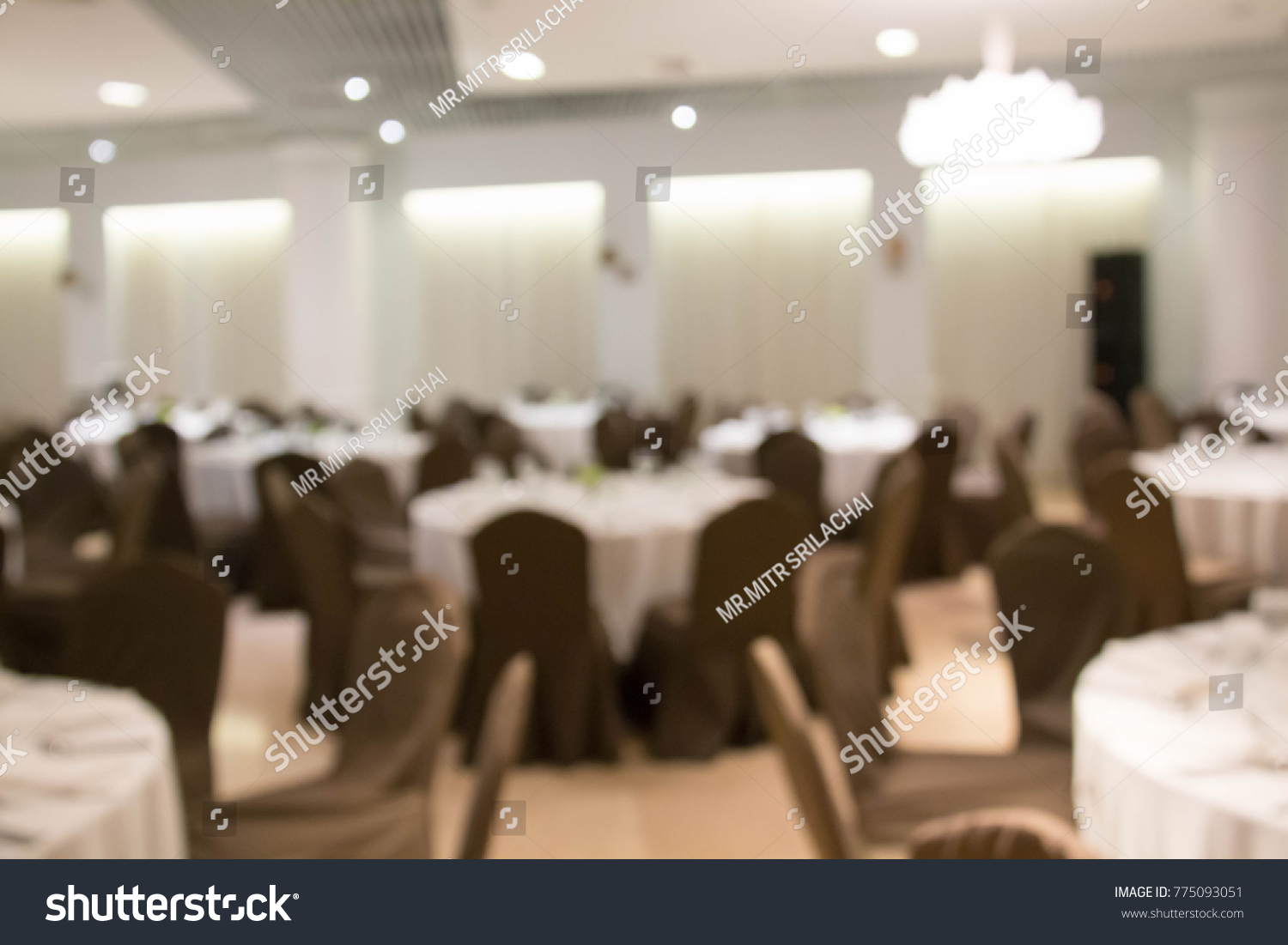 Blur Catering Setup Wedding Reception Background Stock Photo Edit