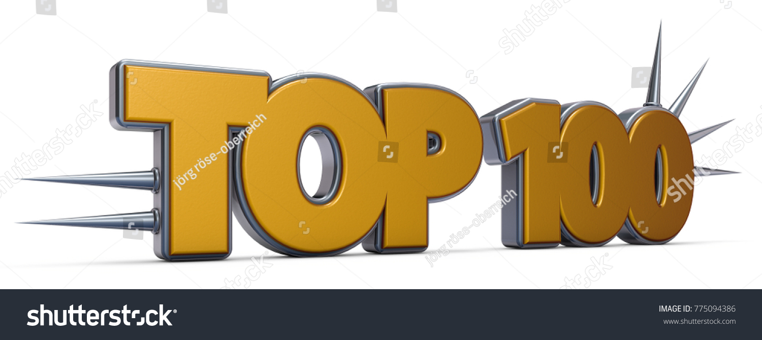 Top 100 symbol prickles on white stock illustration 775094386 top 100 symbol with prickles on white background 3d rendering buycottarizona Image collections