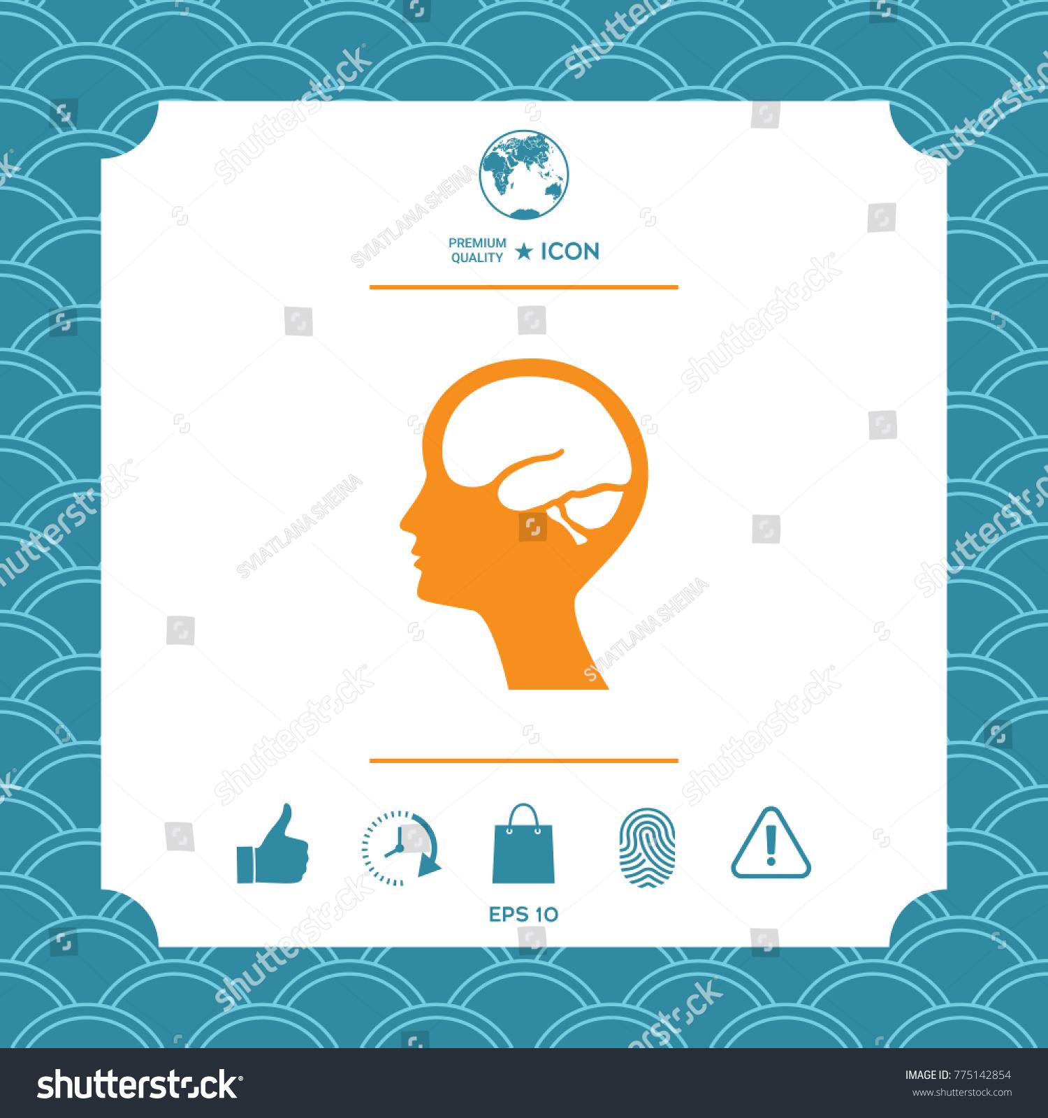 Head brain symbol icon stock vector 775142854 shutterstock head with brain symbol icon biocorpaavc Images