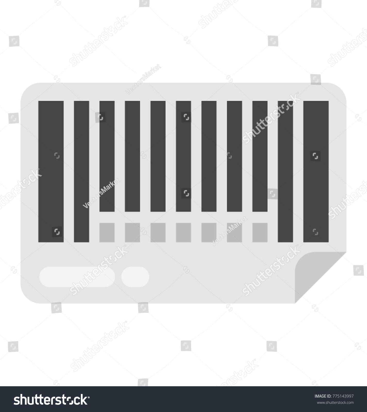 Barcode Verification product verification code barcode flat vector stock vector