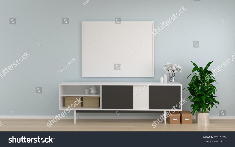 Mock Frame White Room Cabinet Living Stock Illustration 775161724 ...