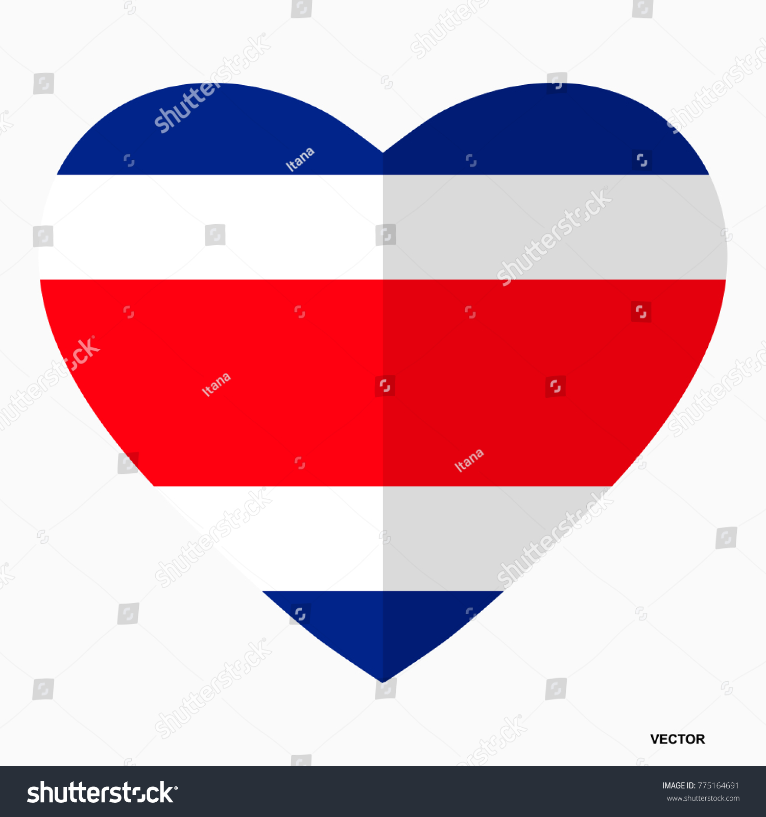 Flag costa rica shape heart flat stock vector 775164691 shutterstock flag of costa rica in the shape of heart flat style symbol of love biocorpaavc Gallery
