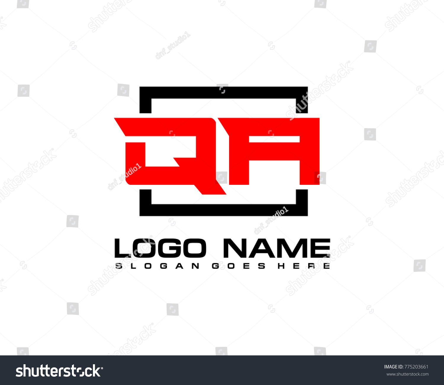 Initial Square Q Logo Template Vector Stock Vector (2018) 775203661 ...