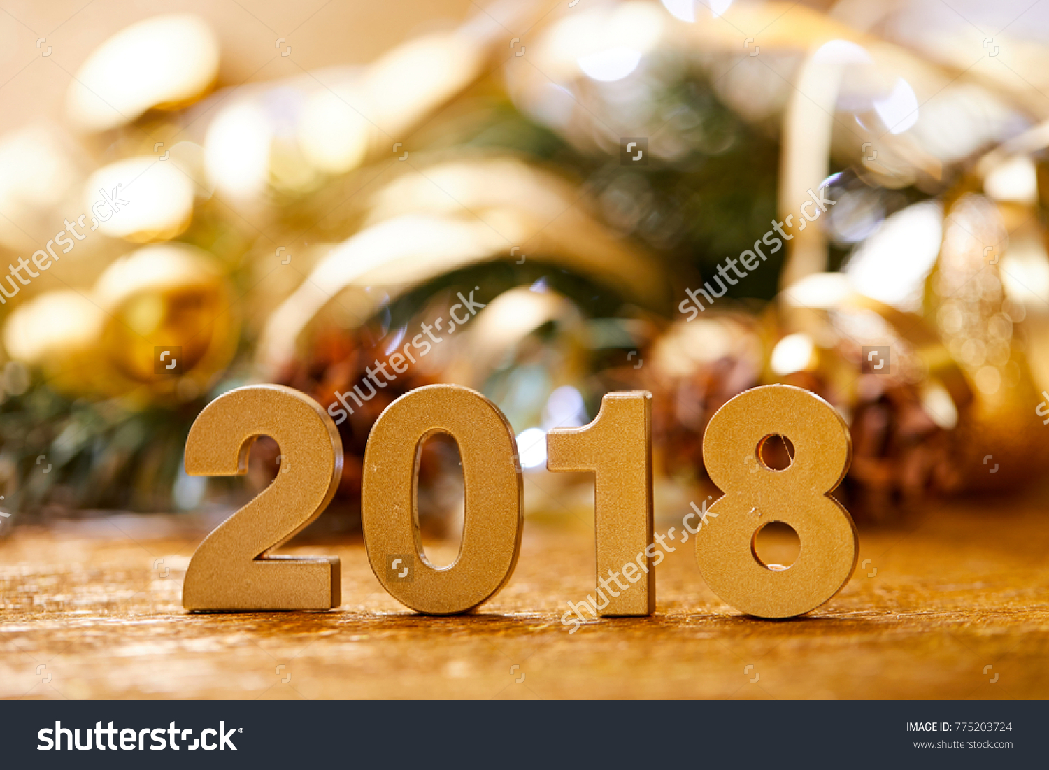 Christmas Card New 2018 Year Stock Photo (Edit Now) 775203724 ...
