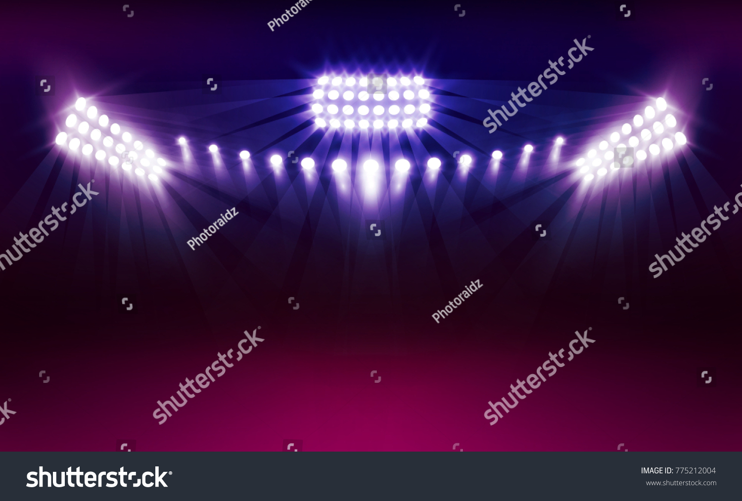 Bright stadium arena lights vector design stock vector royalty