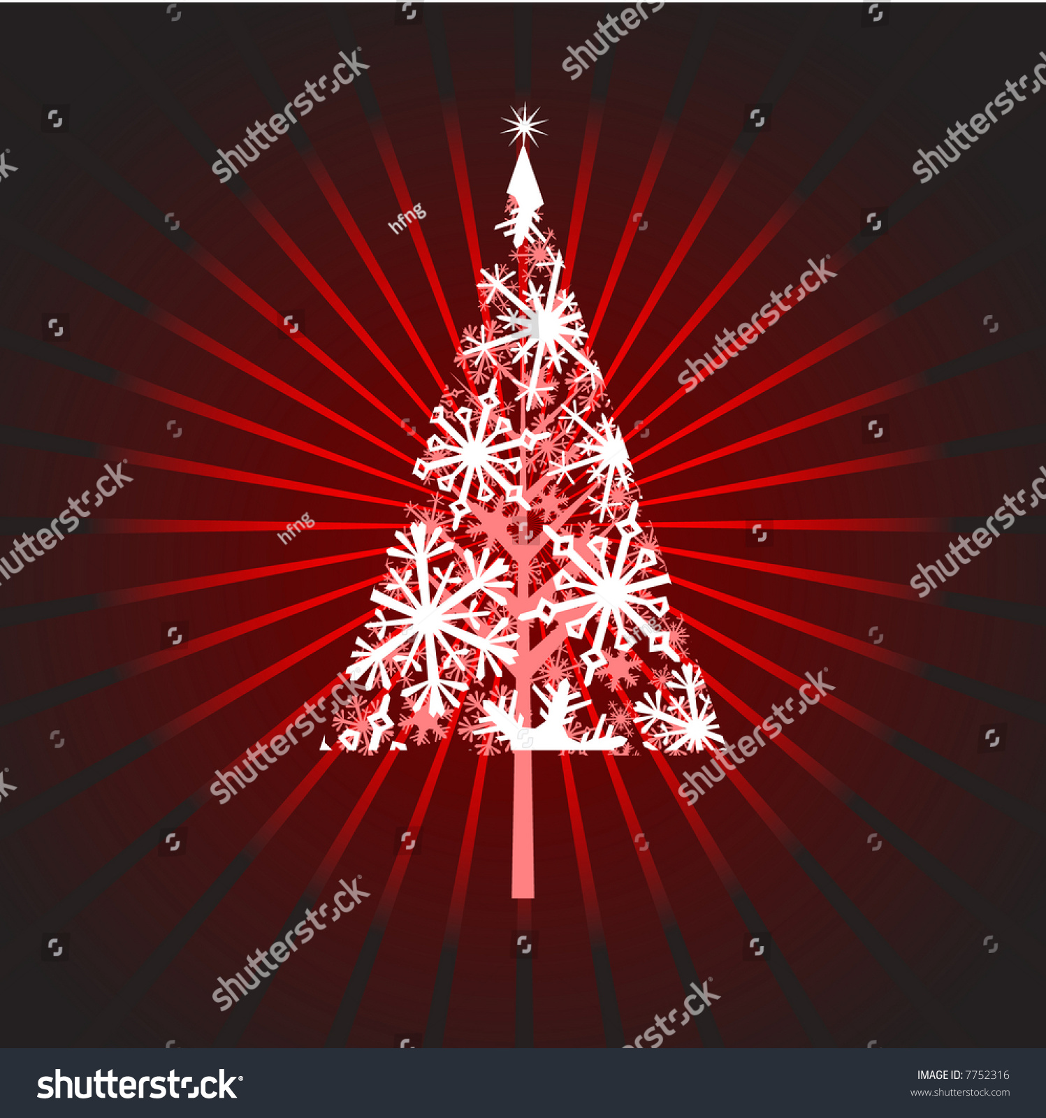 high resolution jpeg christmas tree filled stock illustration