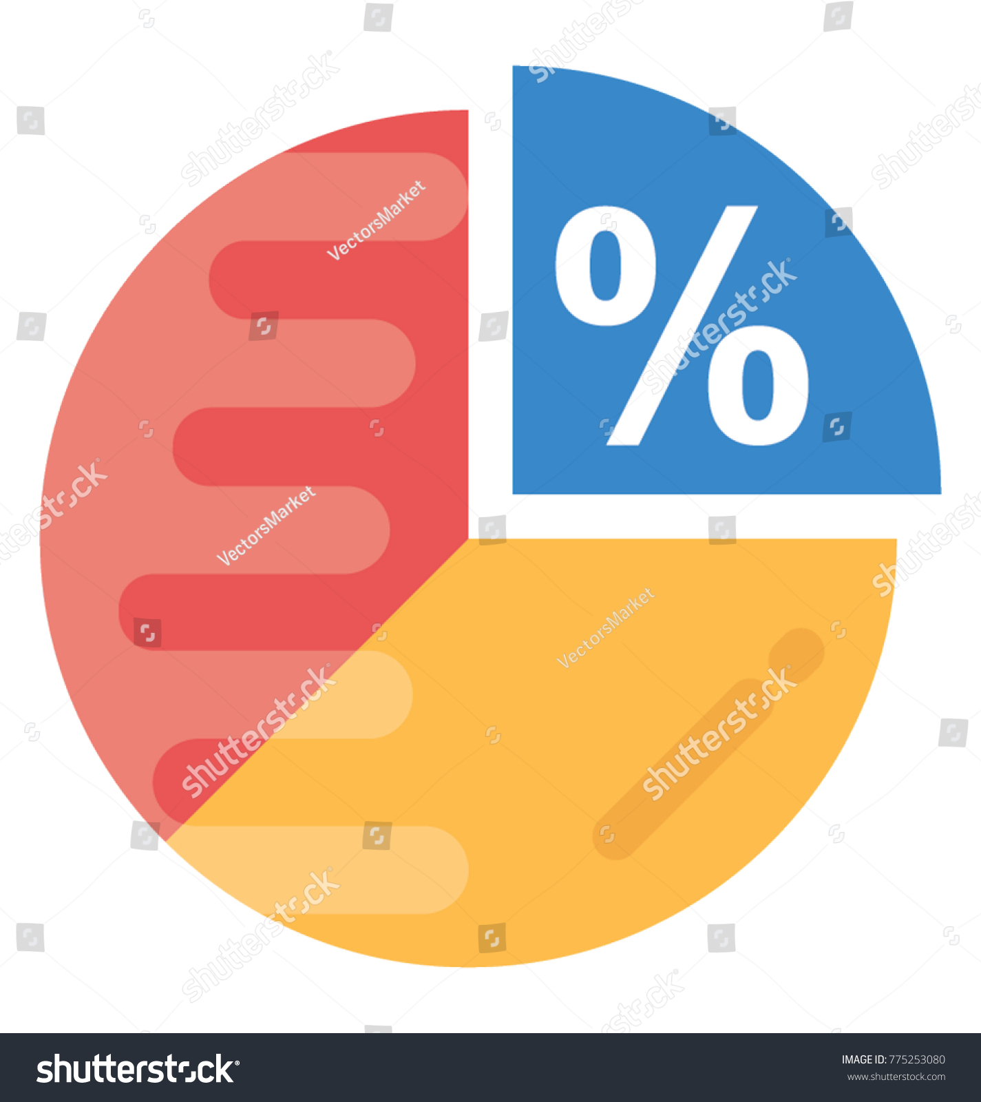 Infographic percentage pie chart icon flat stock vector 775253080 infographic percentage pie chart icon in flat style nvjuhfo Image collections