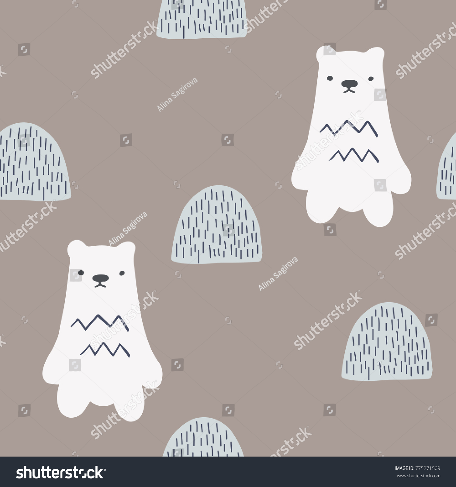 Kids Pattern Baby Clothes Hand Drawn Stock Vector HD Royalty Free