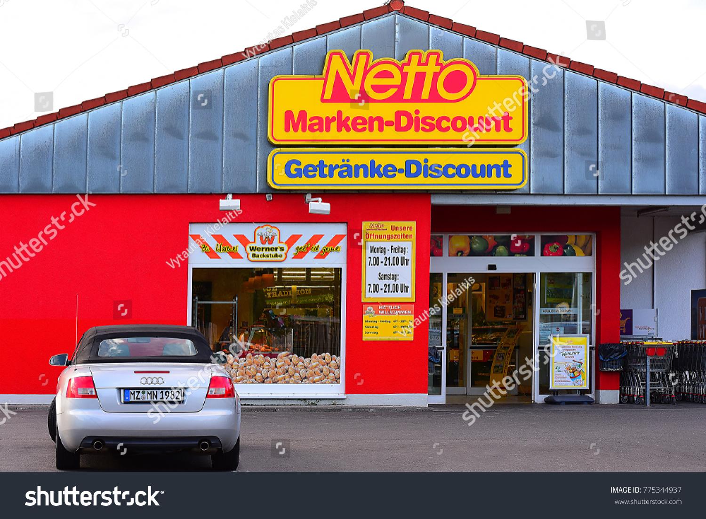 GERMANYAUGUST 032017 Netto Marken Discoun Supermarket Germany Netto ...