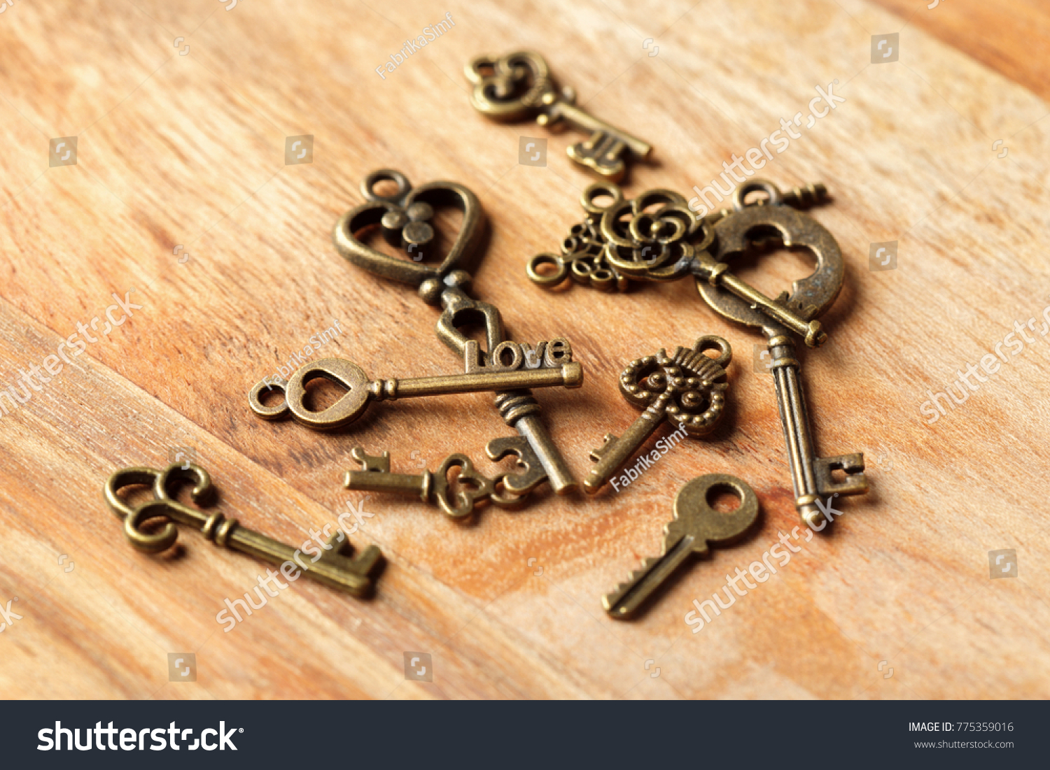 old key on wooden table | EZ Canvas