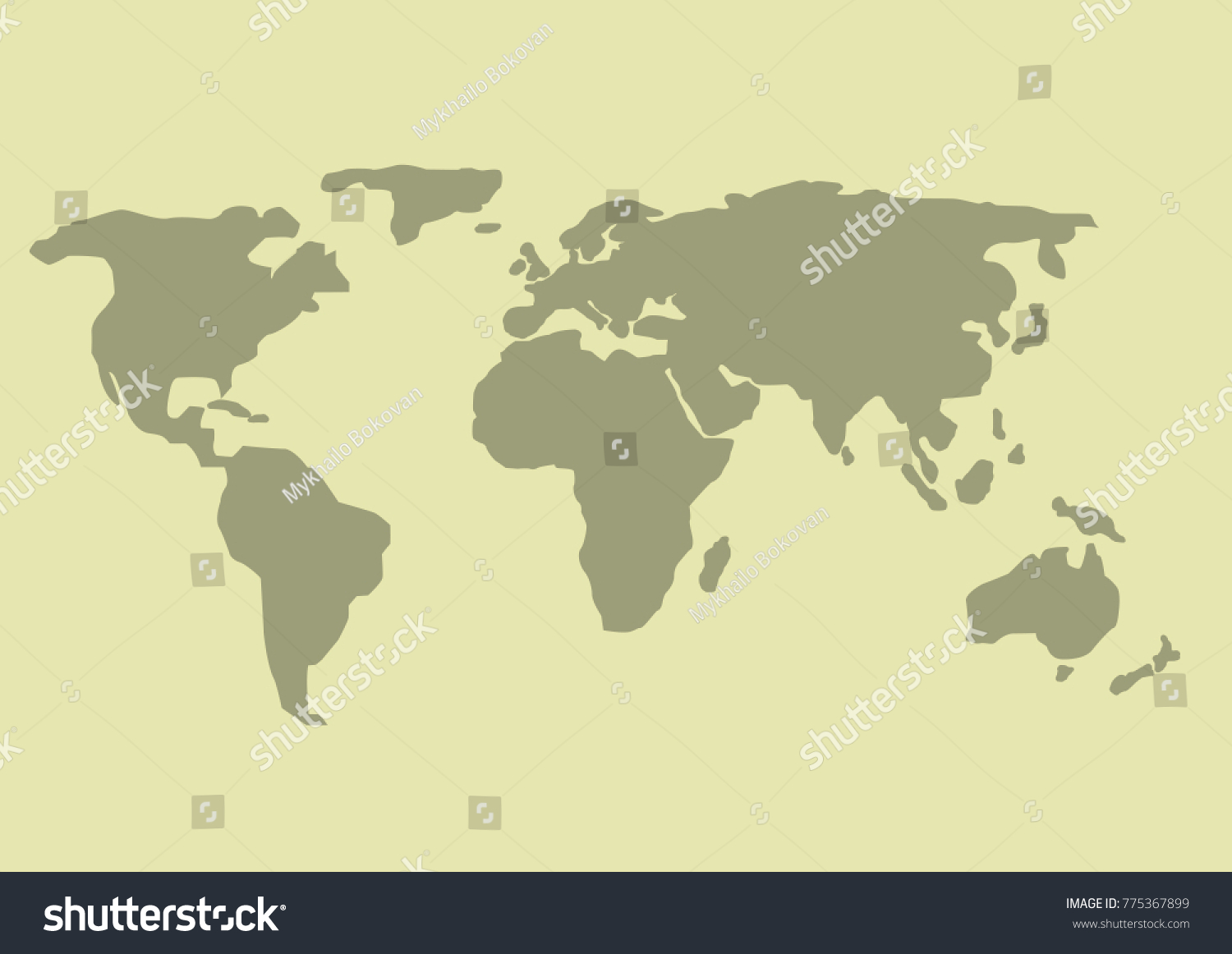 Simple world map earth design planet stock vector 775367899 simple world map earth design planet illustration gumiabroncs Images