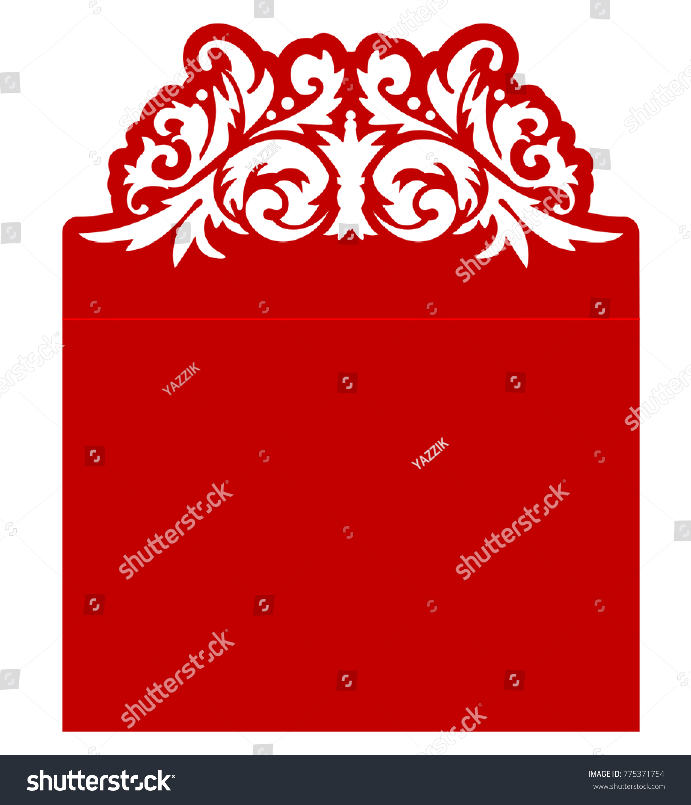 Laser Cut Flower Template Envelope Vector Stock Vector (Royalty Free ...