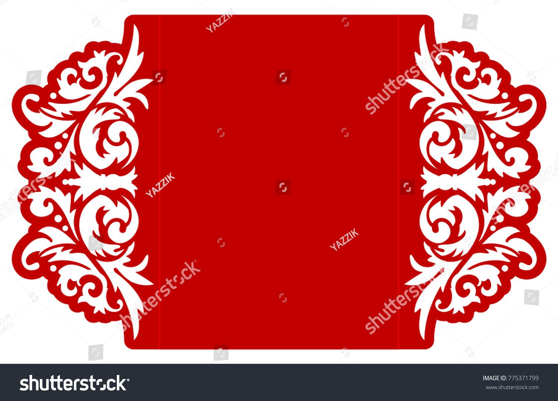 Laser Cut Flower Template Envelope Vector Stock Vector (Royalty Free ...