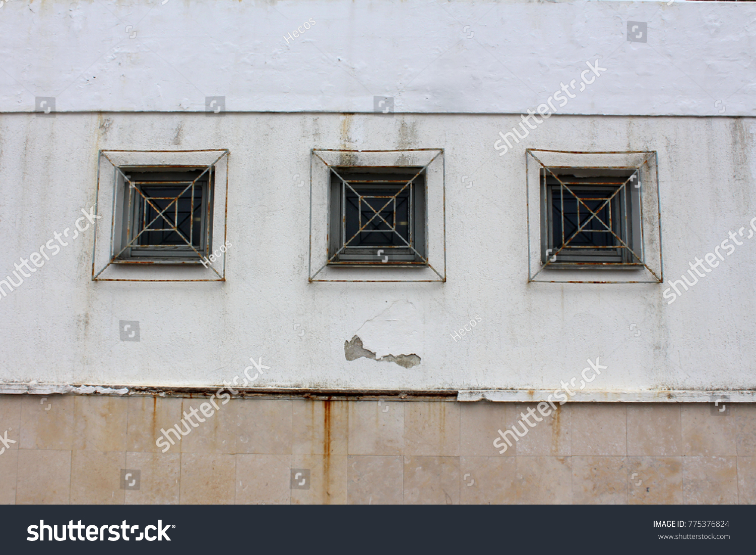 Three Wooden Frame Rectangle Glass Windows Stock Photo (Edit Now ...