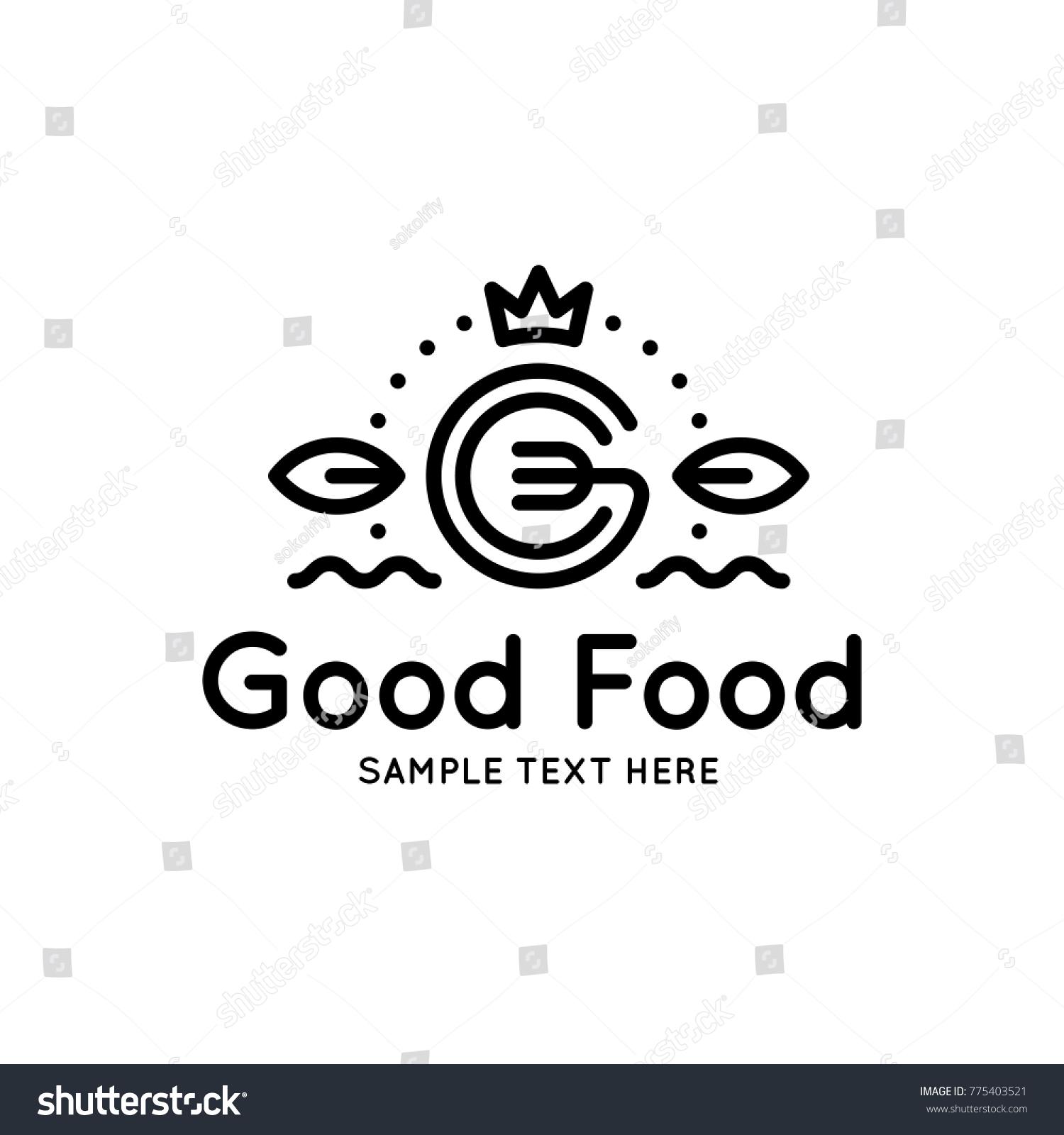 good food logo design template vector のベクター画像素材