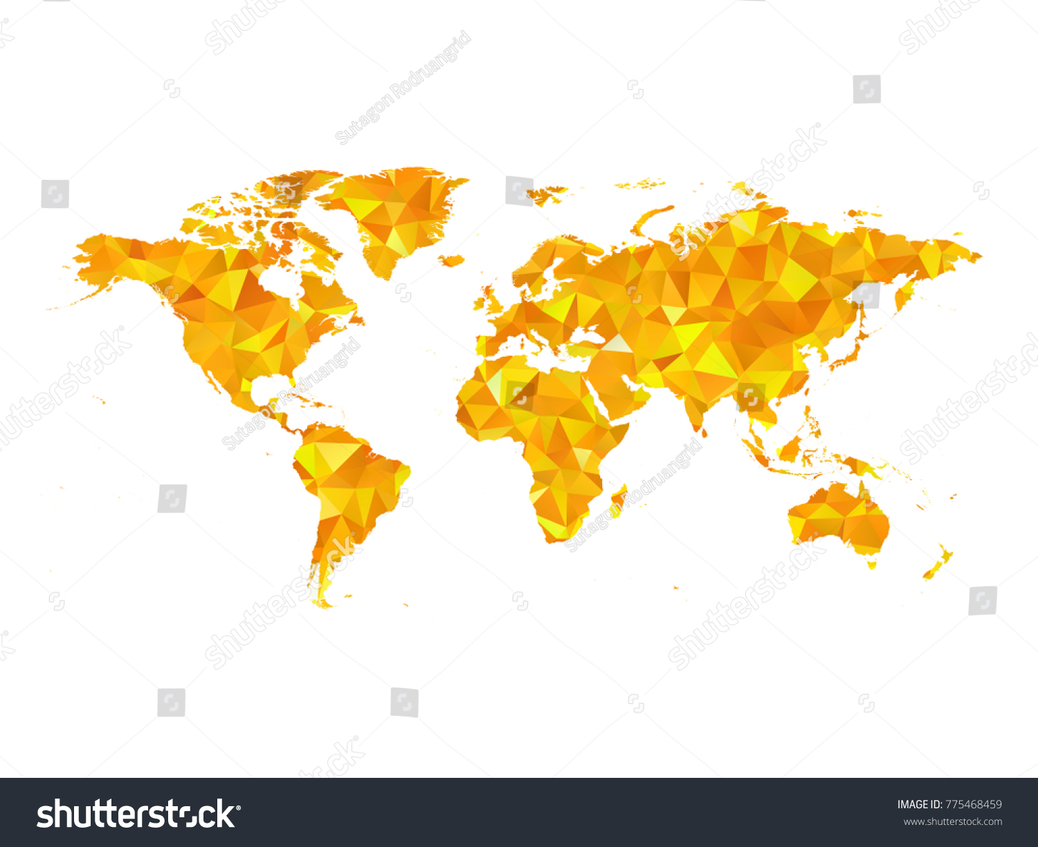 Yellow colors low polygon style world stock vector 775468459 yellow colors low polygon style world map vector eps10 gumiabroncs Image collections