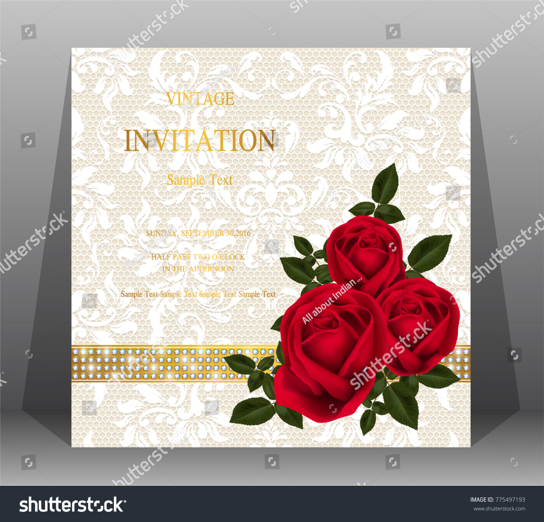 Wedding Invitation Valentine Greeting Holiday Card Templates Stock