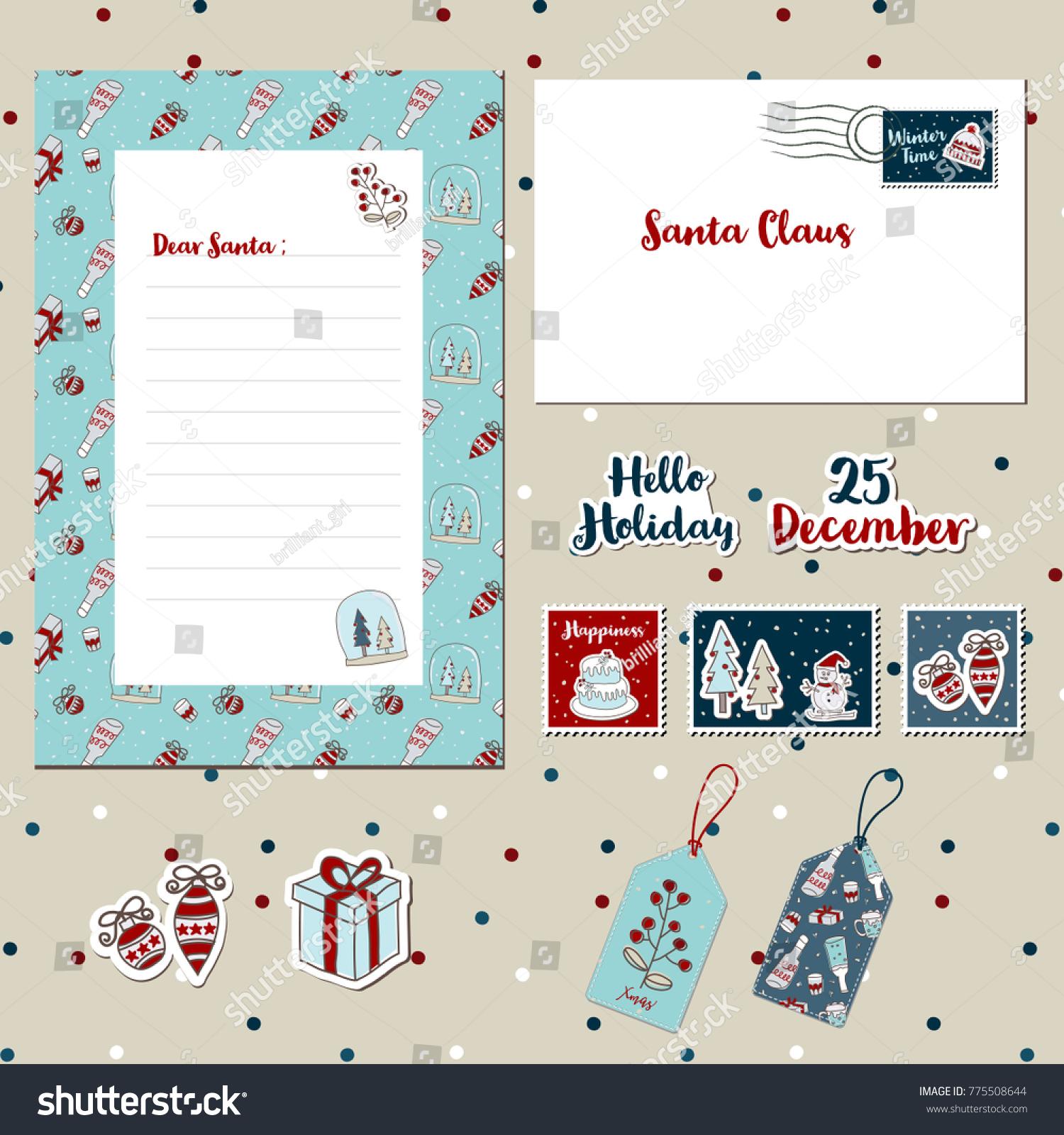 santa letter envelope template - Vaydile.euforic.co