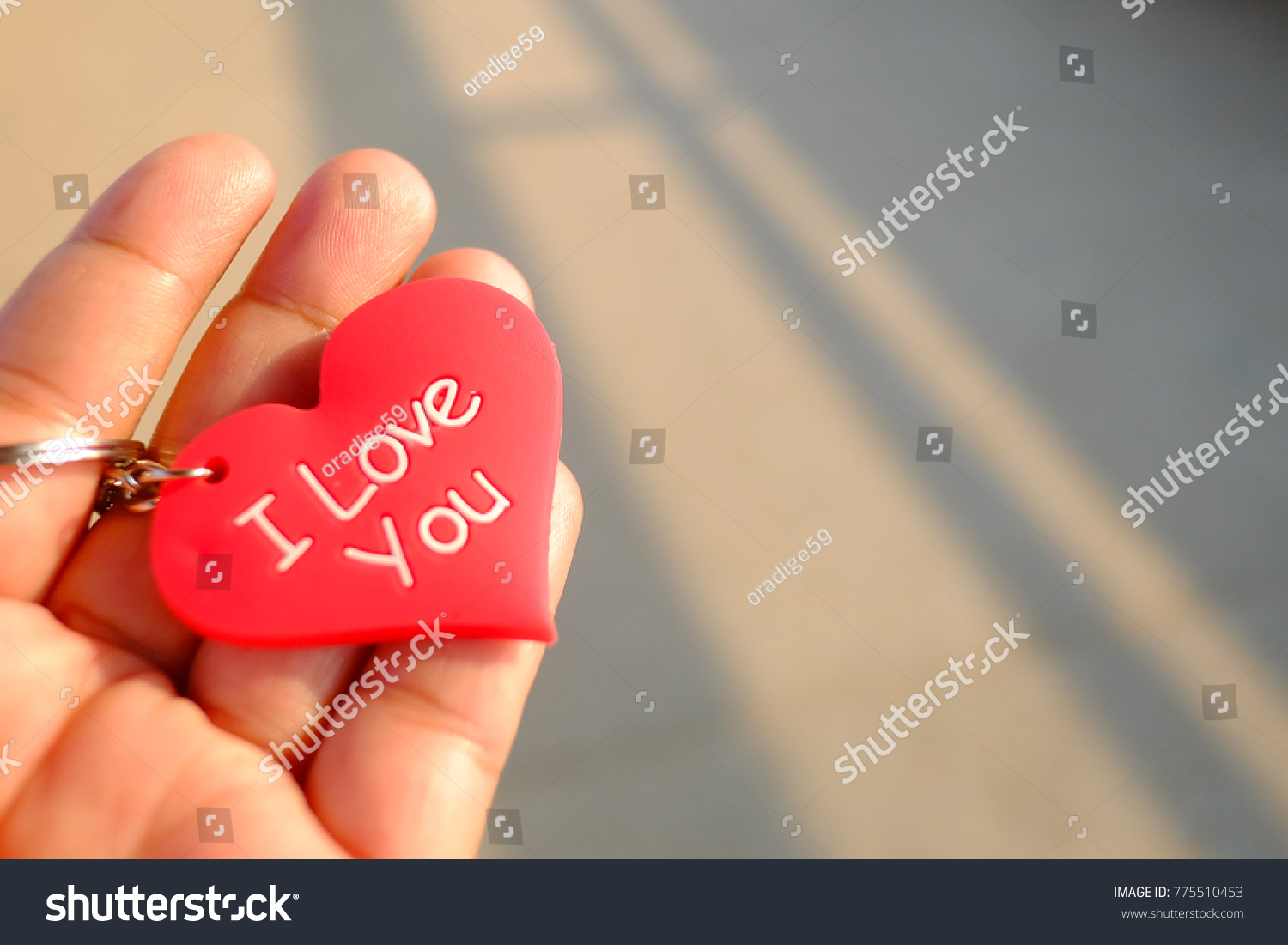 Red Heart Symbol Key Chain On Stock Photo Royalty Free 775510453