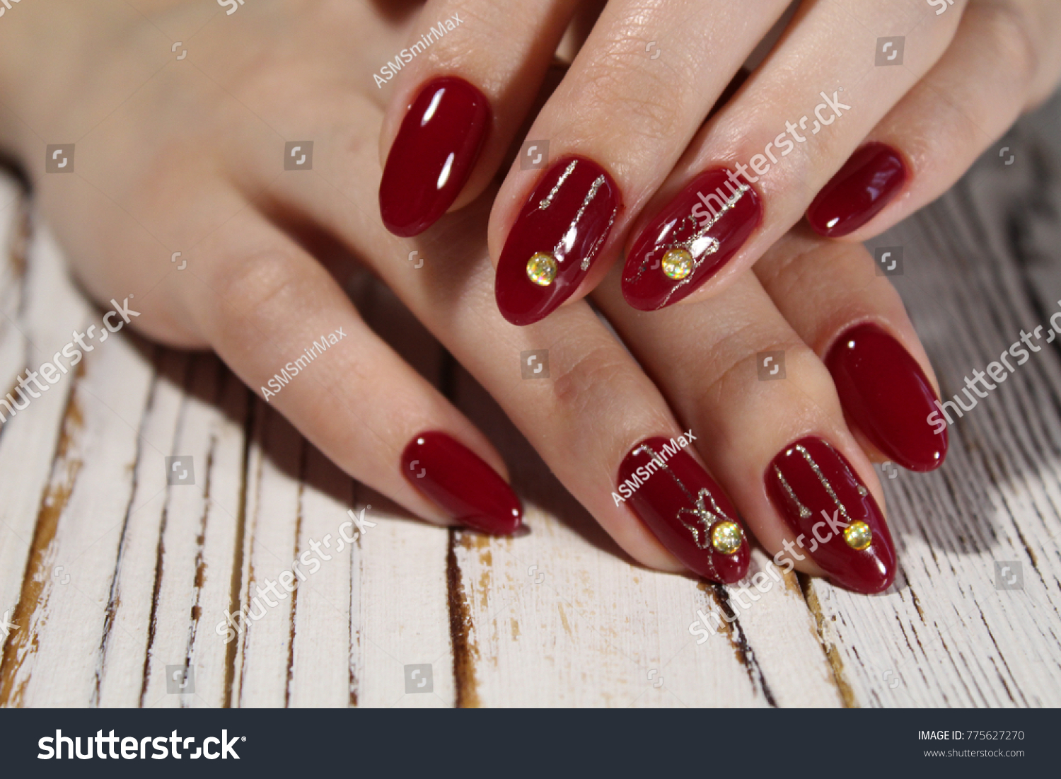 Manicured Nails Nail Polish Art Design Stock Photo Edit Now