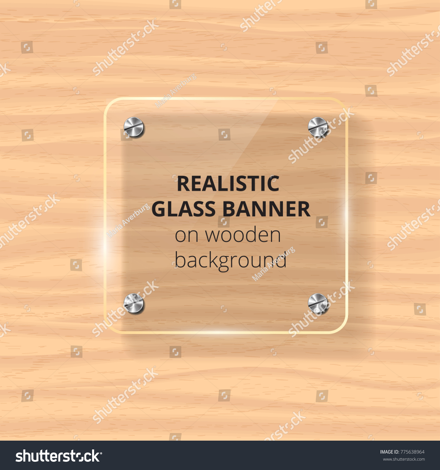 Transparent Glass Plate Mock Up Yellow Stock Vector 775638964 ...