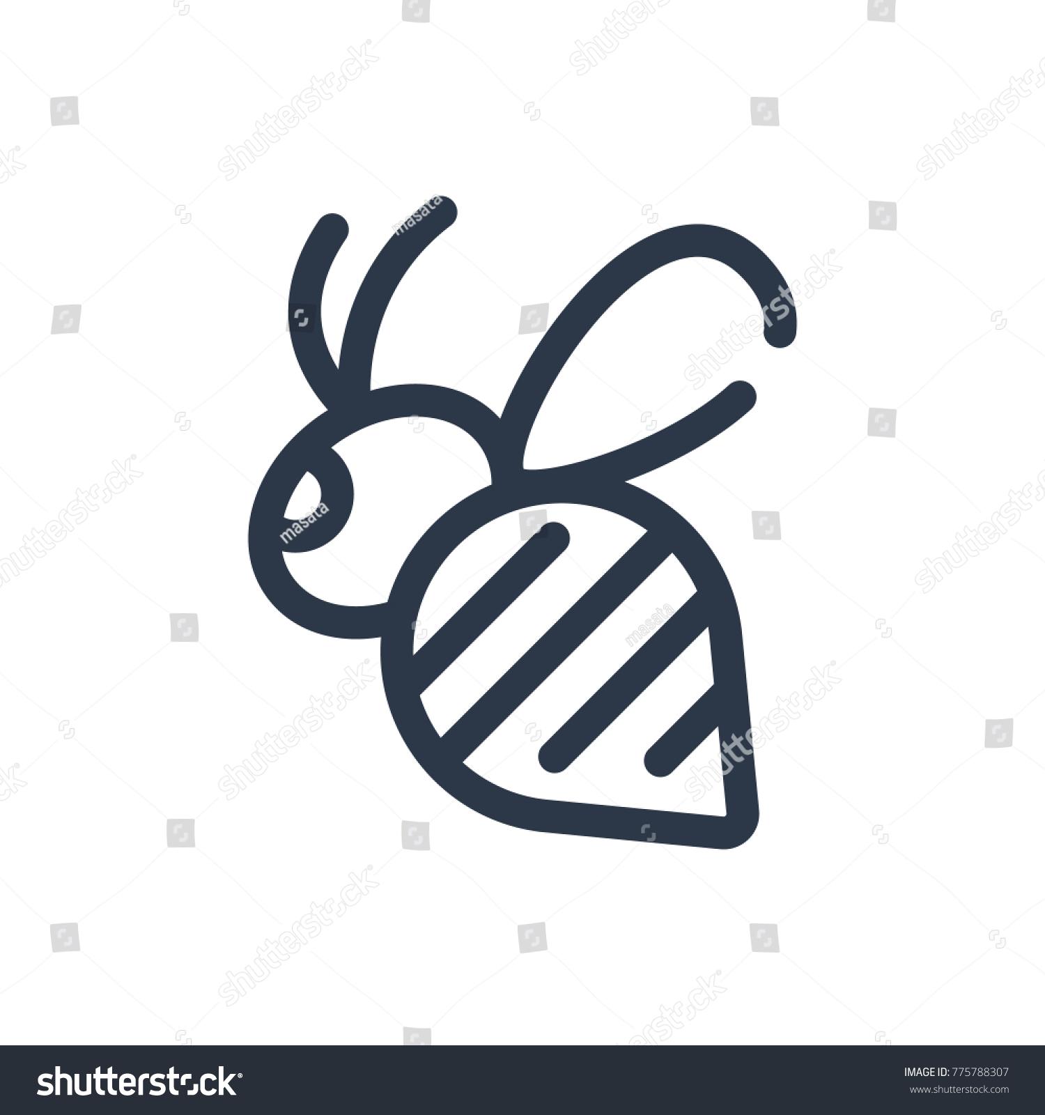 Bee icon isolated bumblebee bee icon stock illustration 775788307 bee icon isolated bumblebee and bee icon line style premium quality bumblebee symbol drawing biocorpaavc