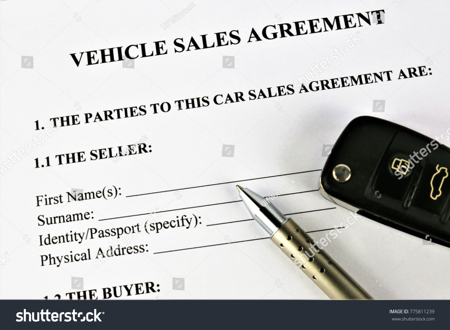 concept image vehicle sales agreement stock photo edit now
