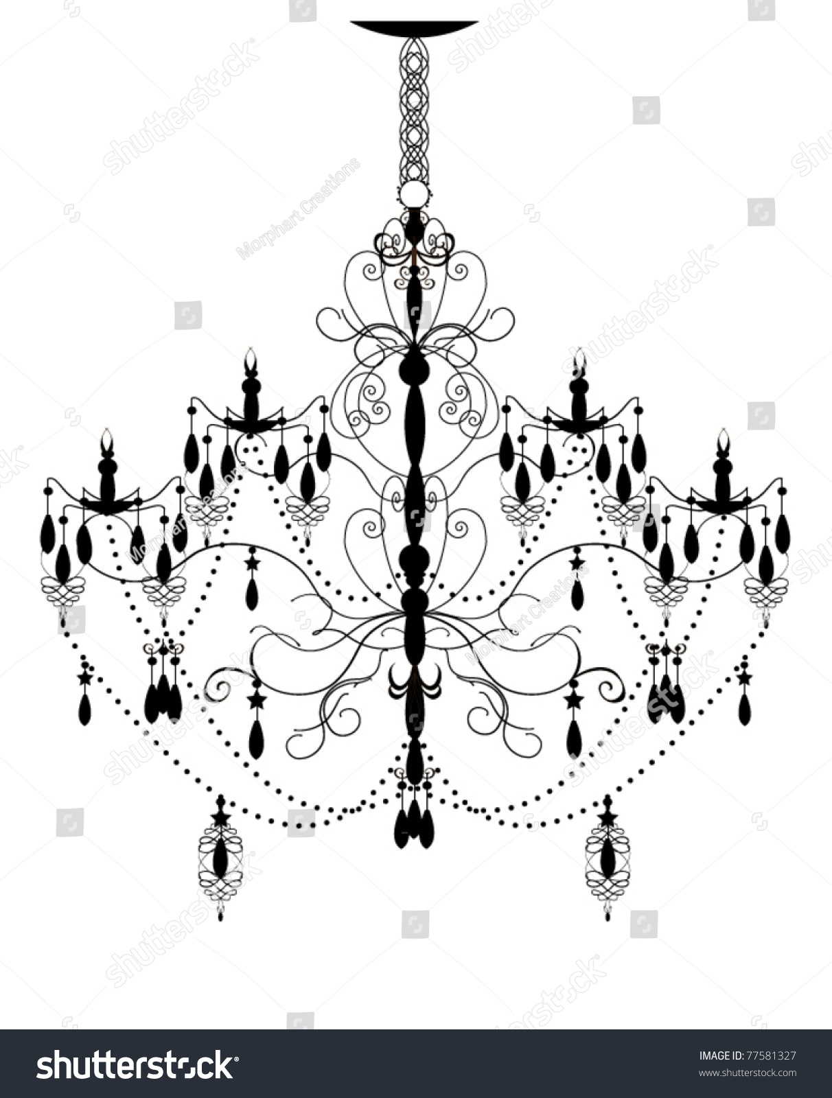 Vintage Chandelier French Vintage Empire Style Crystal
