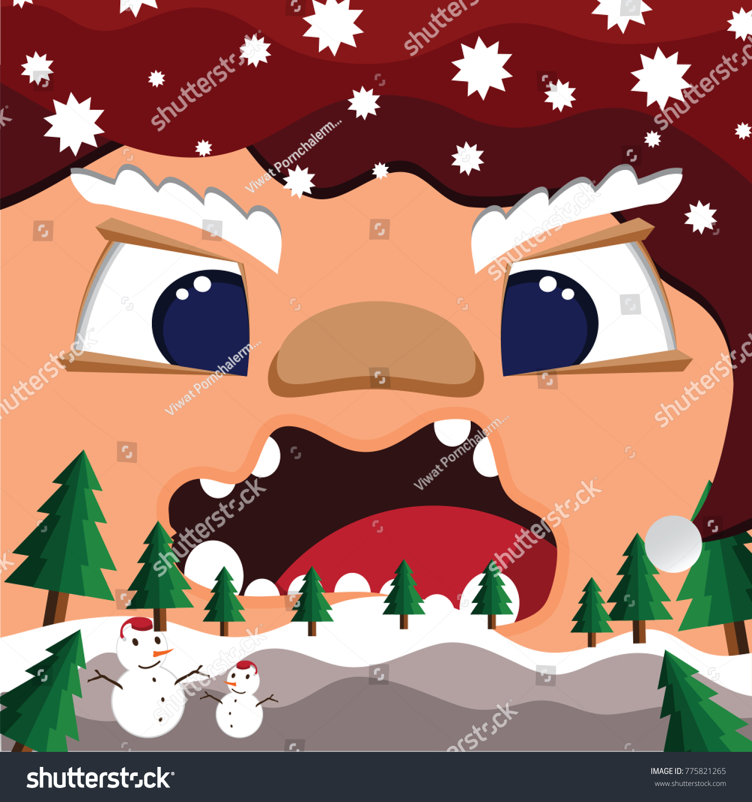 Santa claus back wallpaper face