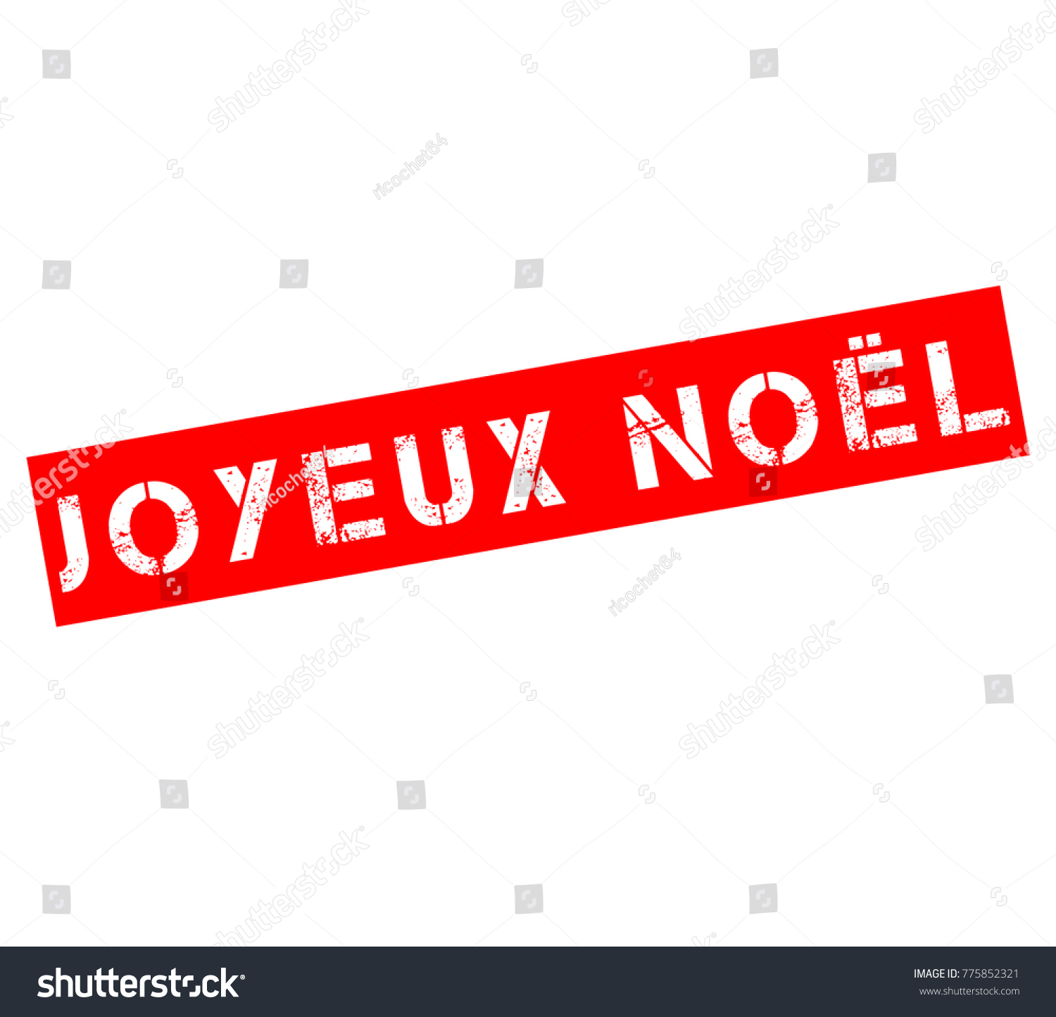 Rubber Stamp Text Merry Christmas French Stock Illustration ...