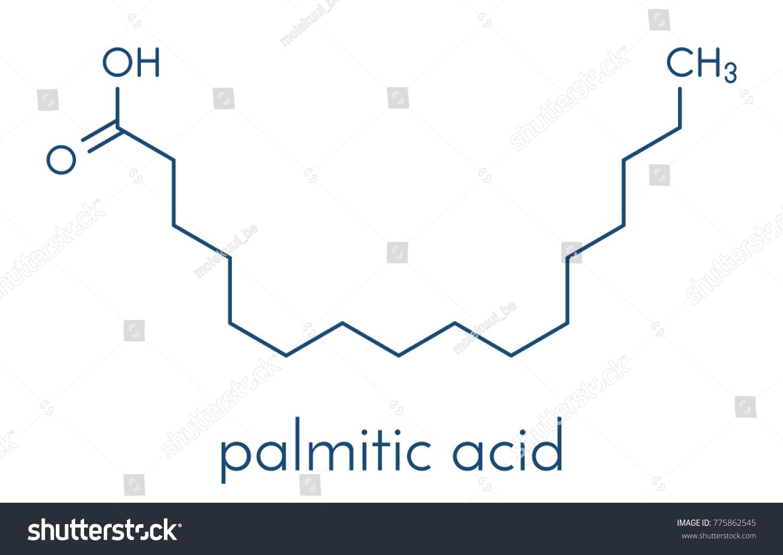Palmitic hexadecanoic acid saturated fatty acid stock vector palmitic hexadecanoic acid saturated fatty acid molecule skeletal formula pooptronica