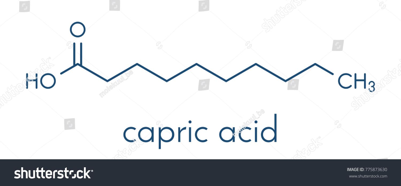 Capric decanoic acid molecule common saturated stock vector capric decanoic acid molecule common saturated fatty acid skeletal formula pooptronica