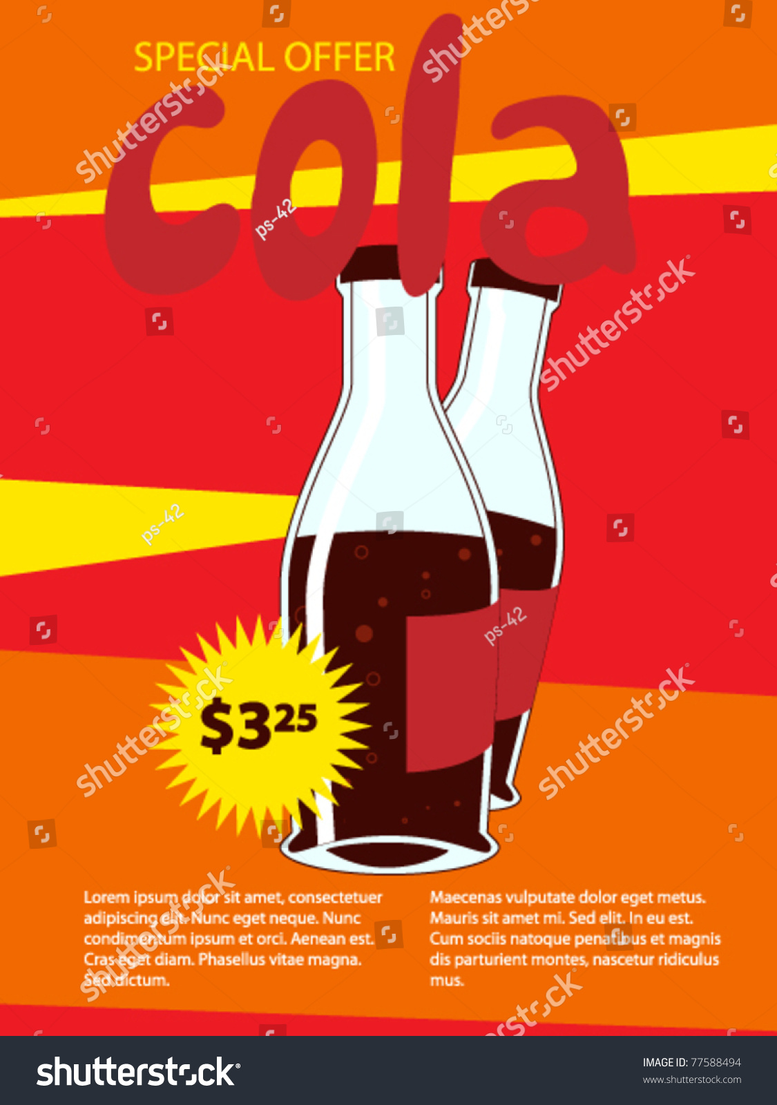 Price for a poster design - Product Poster For Shop Design Sale Card Offers Price Vector 77588494 Shutterstock